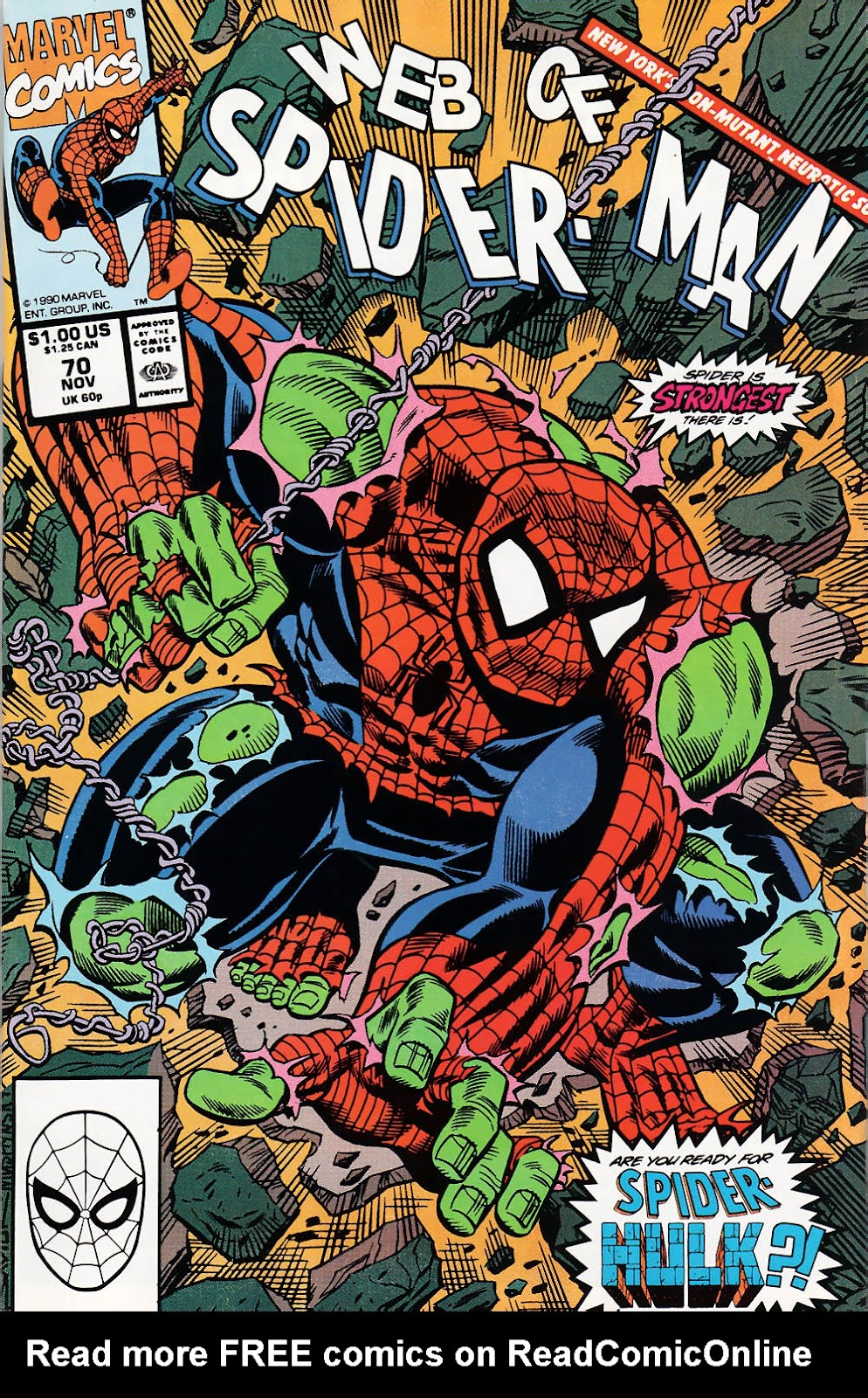 Web of Spider-Man (1985) 70 Page 1