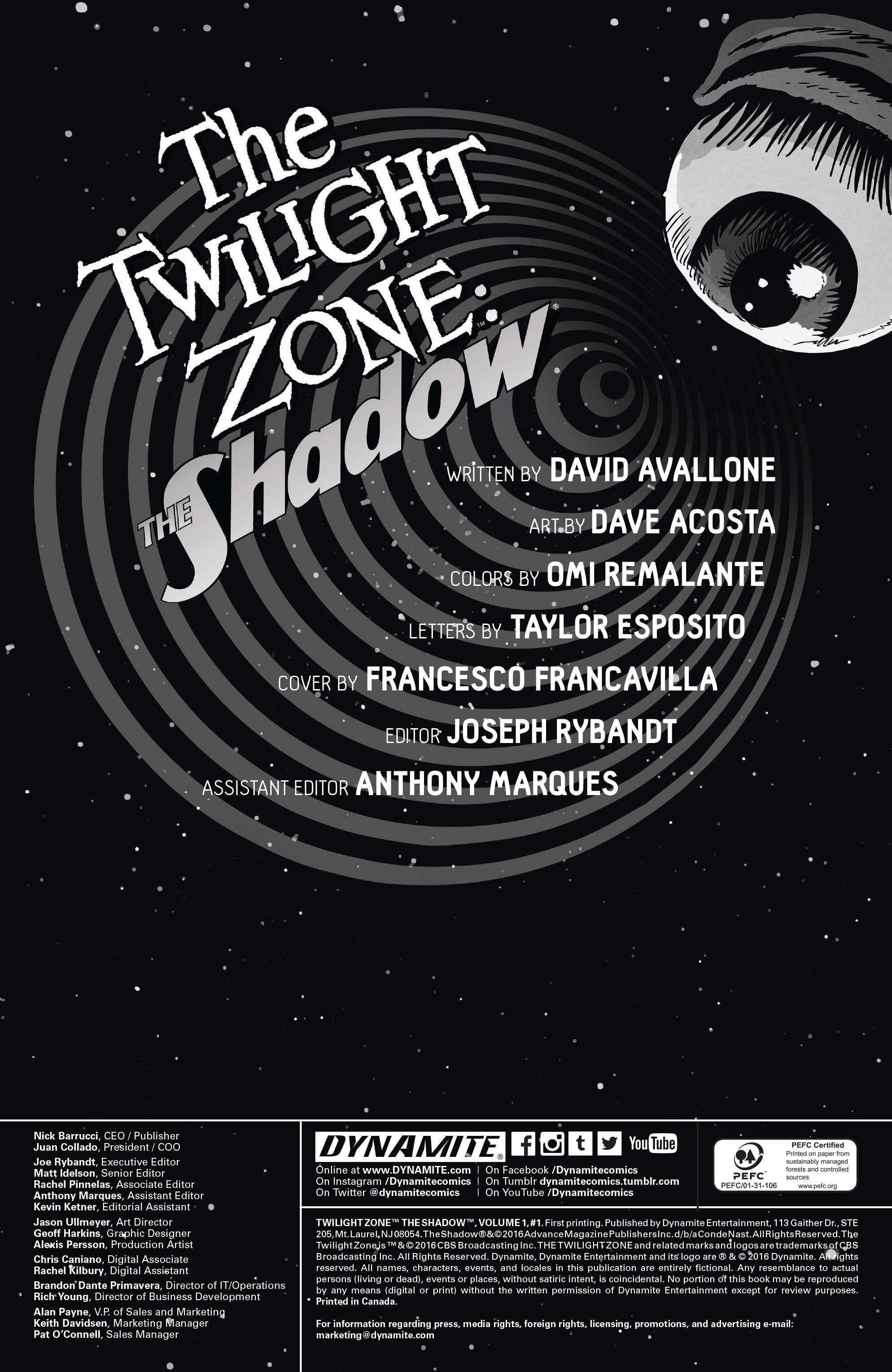 Read online Twilight Zone The Shadow comic -  Issue #1 - 2