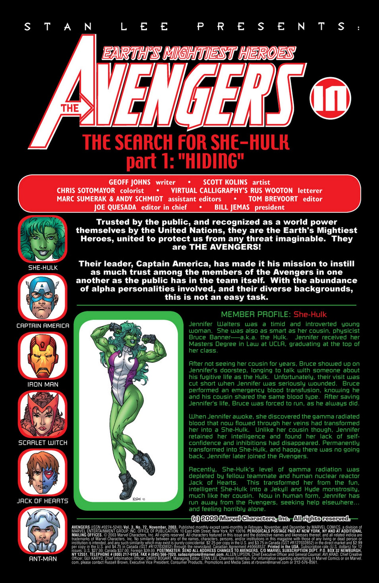 Read online Avengers (1998) comic -  Issue #72 - 2