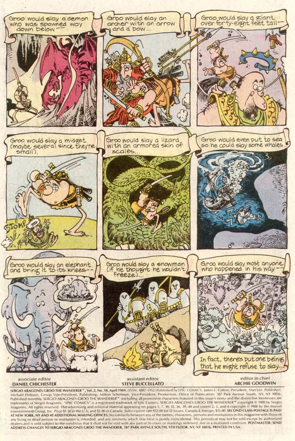 Read online Sergio Aragonés Groo the Wanderer comic -  Issue #50 - 2