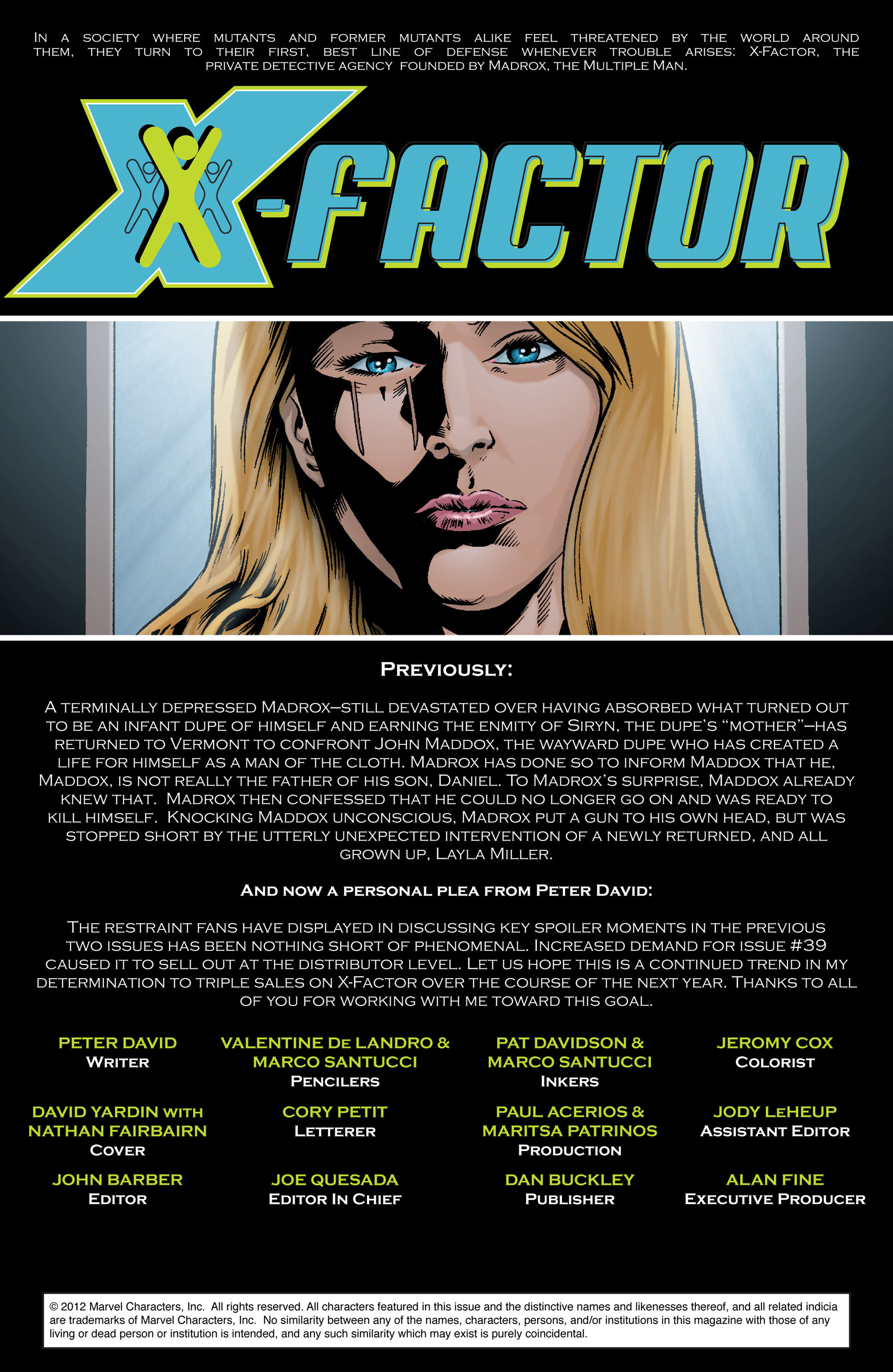 Read online X-Factor (2006) comic -  Issue #41 - 2