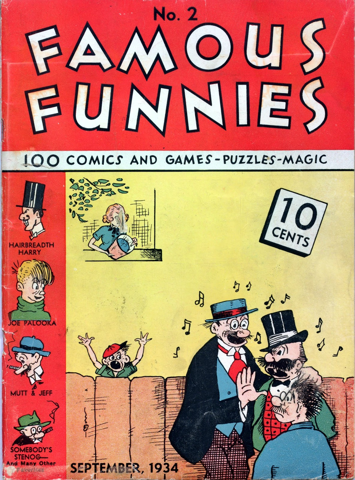 Read online Famous Funnies comic -  Issue #2 - 1