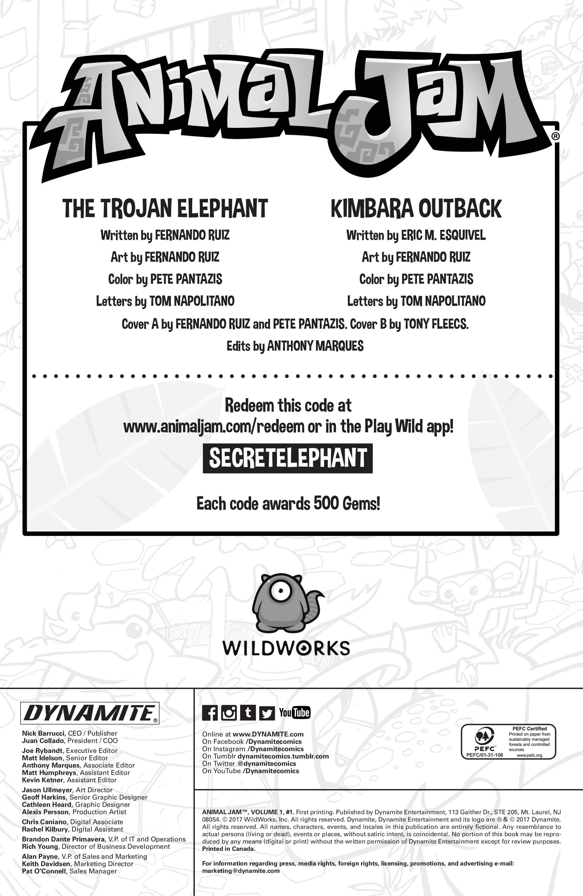 Read online Animal Jam comic -  Issue #1 - 4