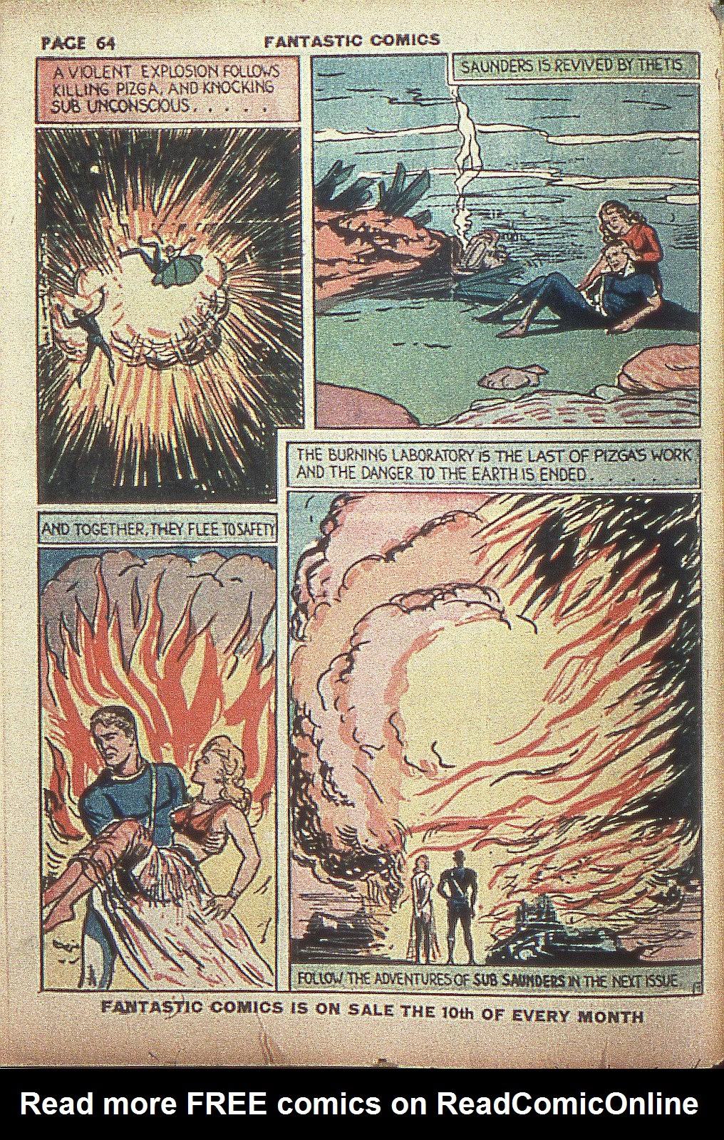 Read online Fantastic Comics comic -  Issue #4 - 65
