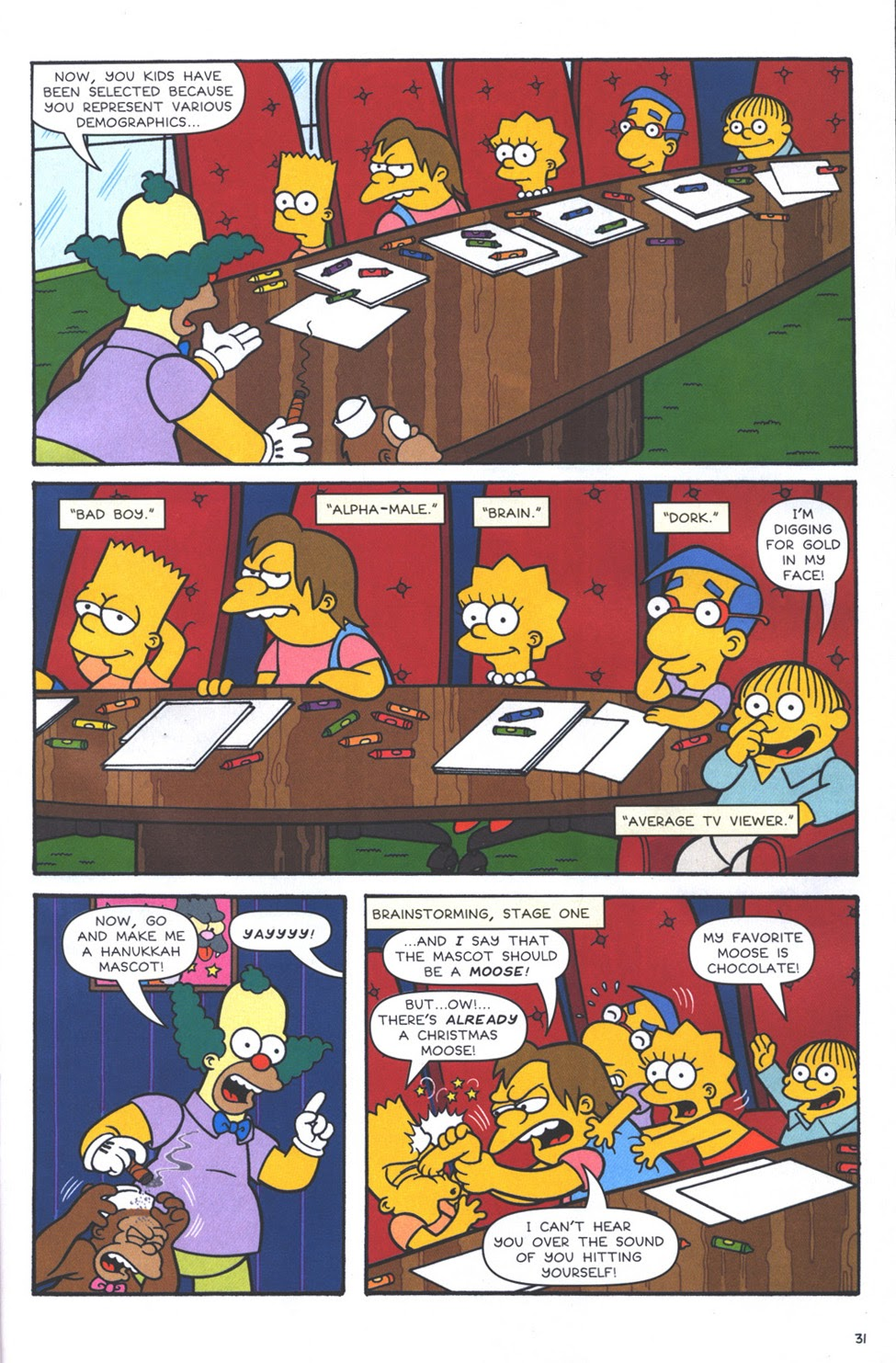 Read online The Simpsons Winter Wingding comic -  Issue #3 - 33