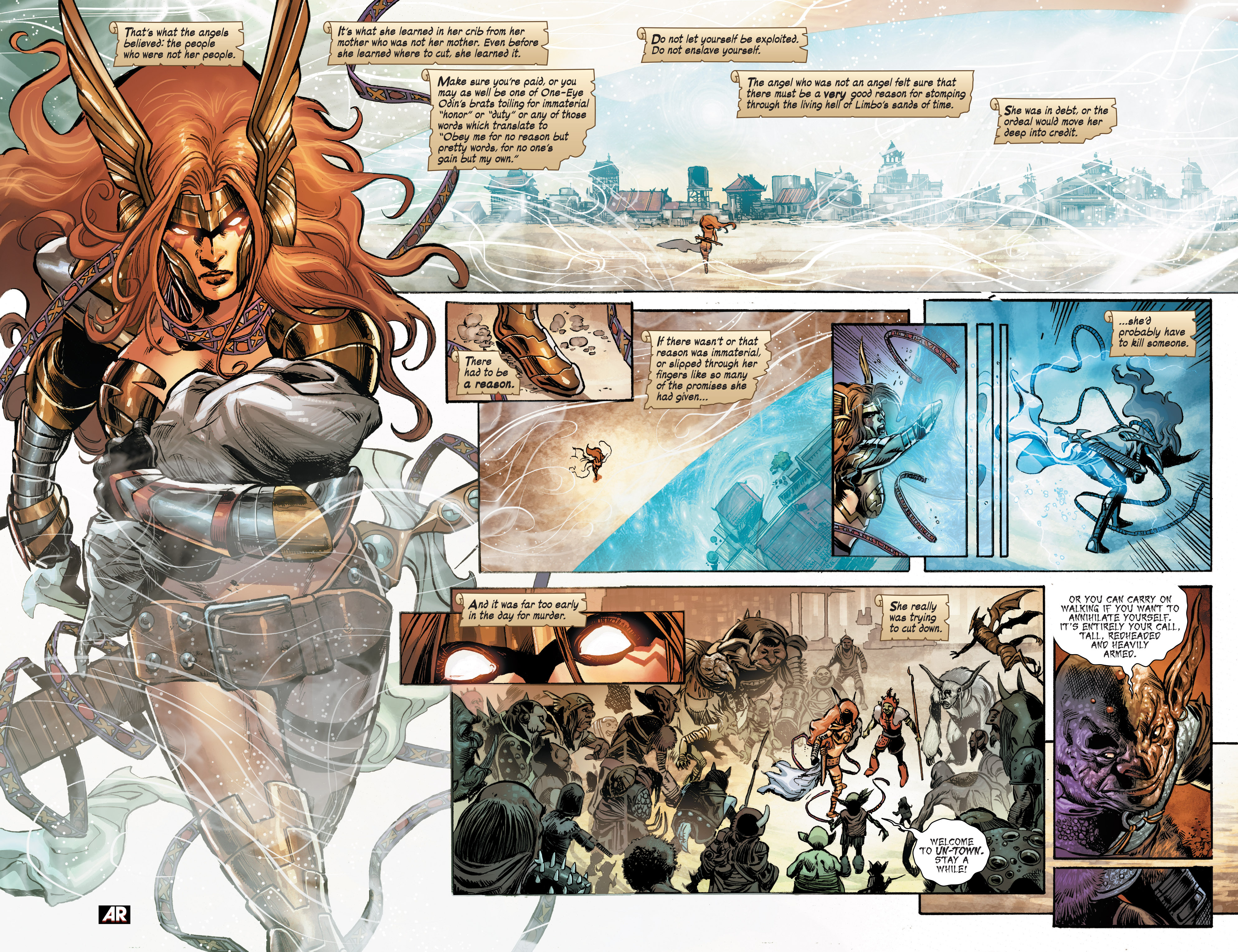 Read online Angela: Asgard's Assassin comic -  Issue #1 - 4