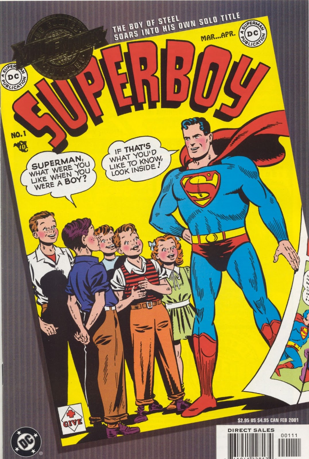 Superboy (1949) issue 1 - Page 1