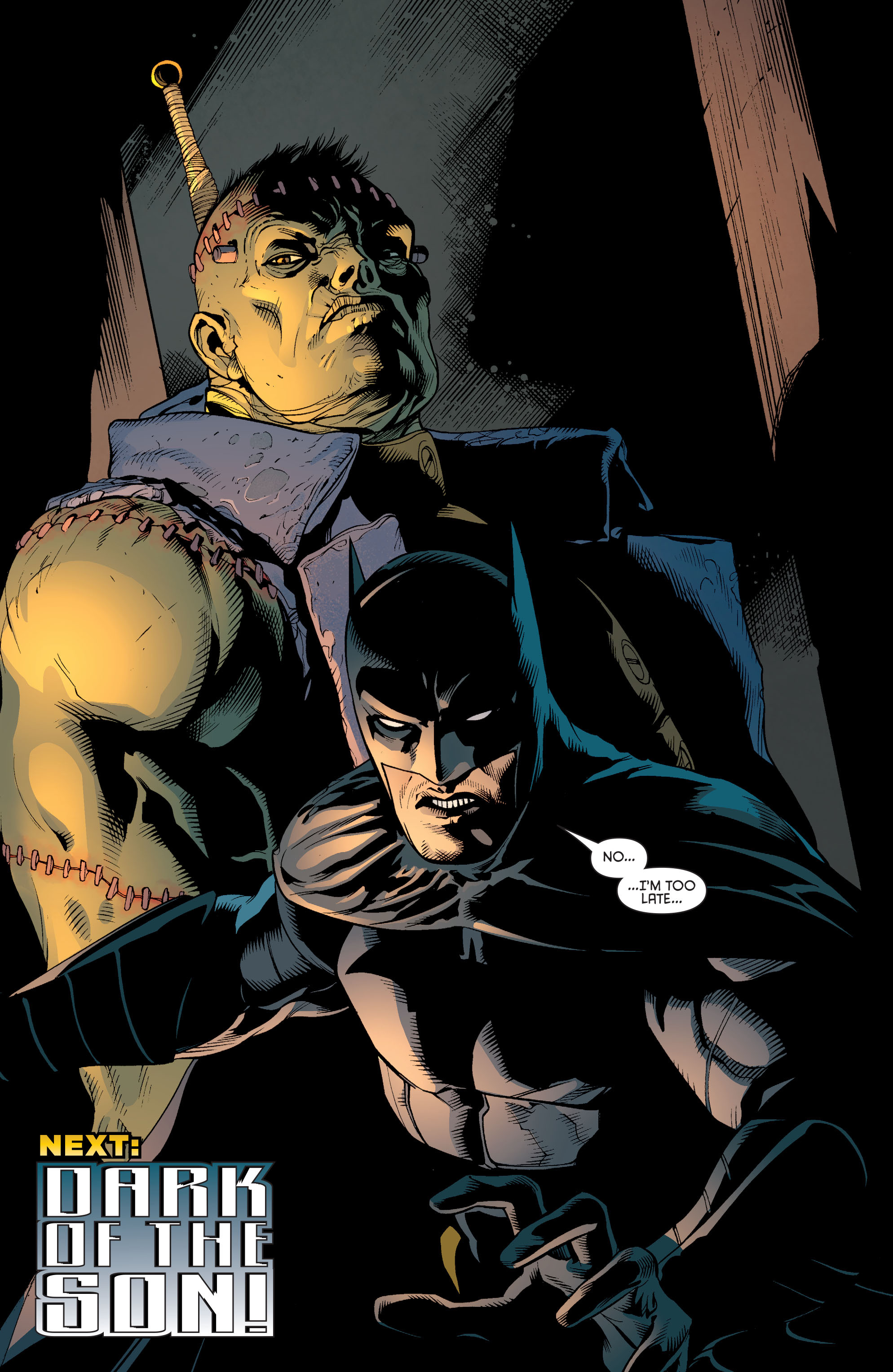 Read online Batman and Robin (2011) comic -  Issue #31 - Batman and Frankenstein - 21