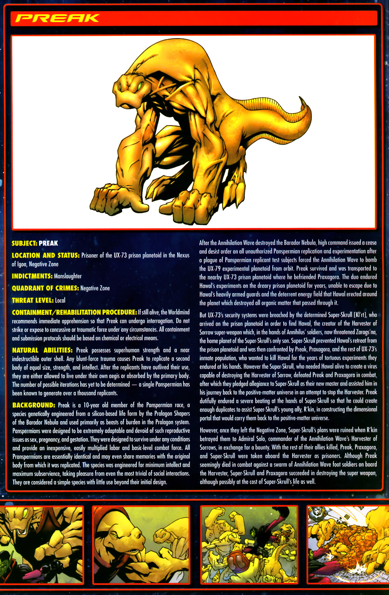 Read online Annihilation:  The  Nova Corps Files comic -  Issue #Annihilation:  The  Nova Corps Files Full - 28