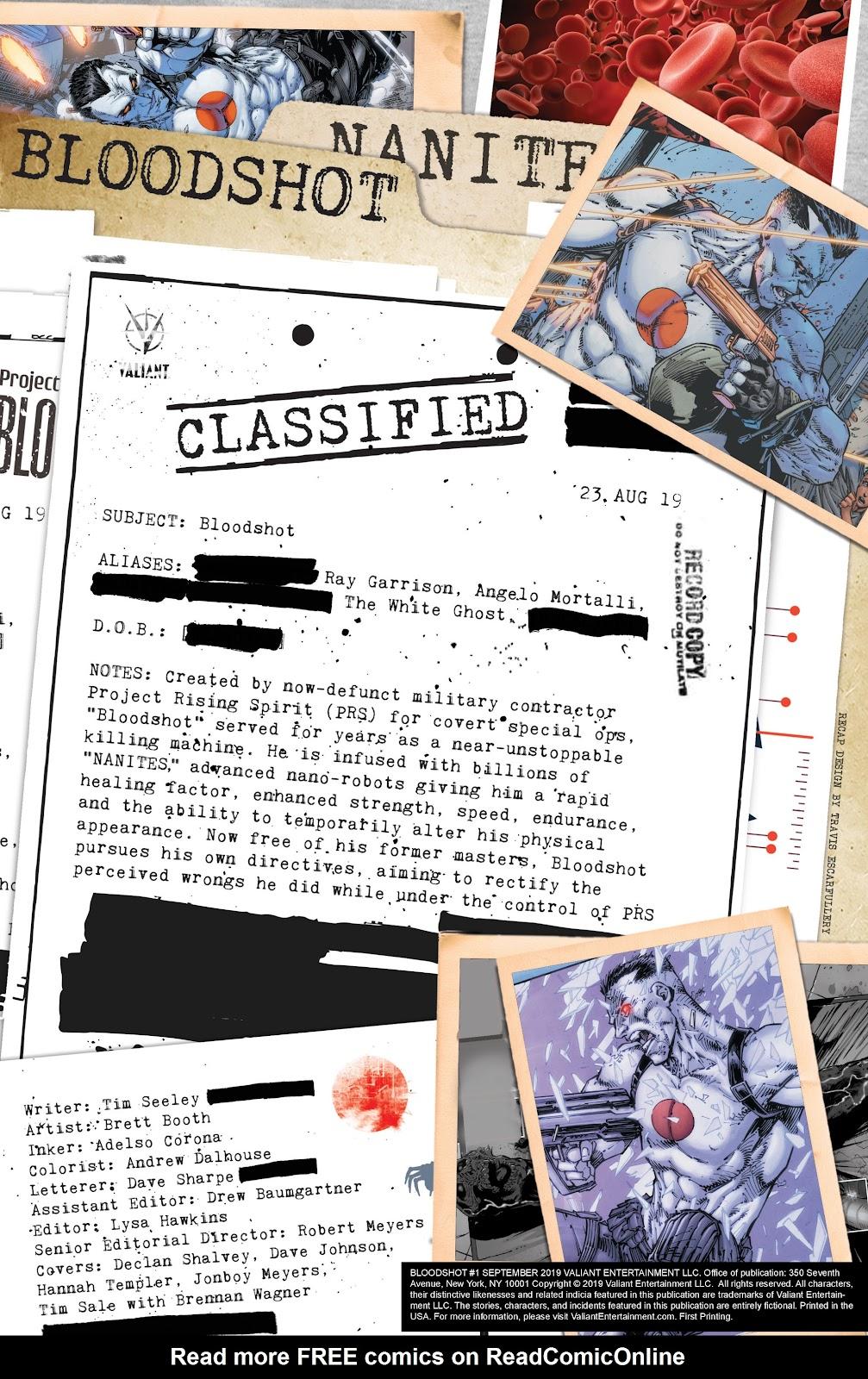 Read online Bloodshot (2019) comic -  Issue #1 - 2
