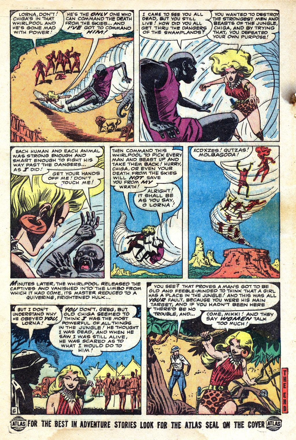 Comic Lorna, The Jungle Girl issue 6