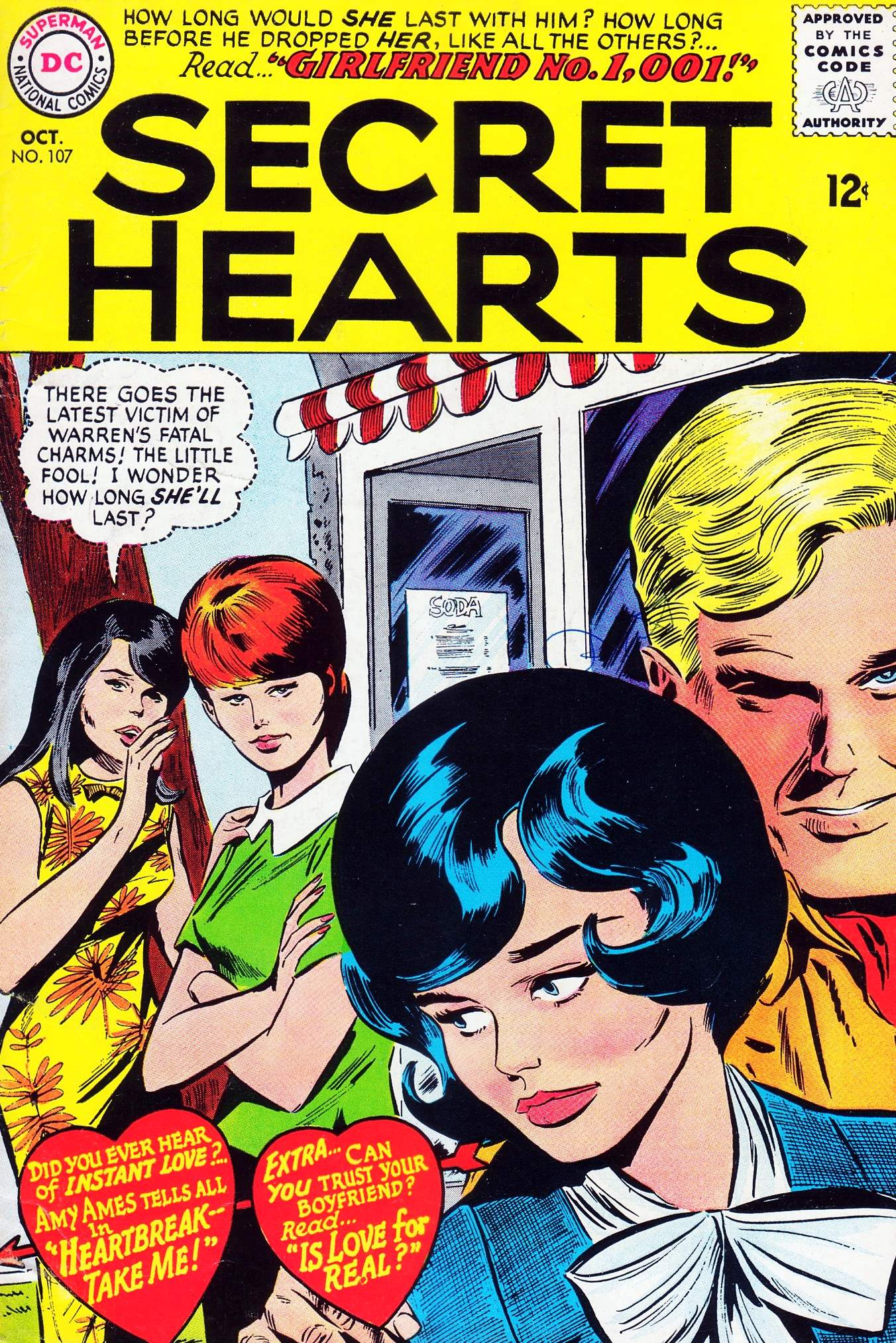 Read online Secret Hearts comic -  Issue #107 - 1