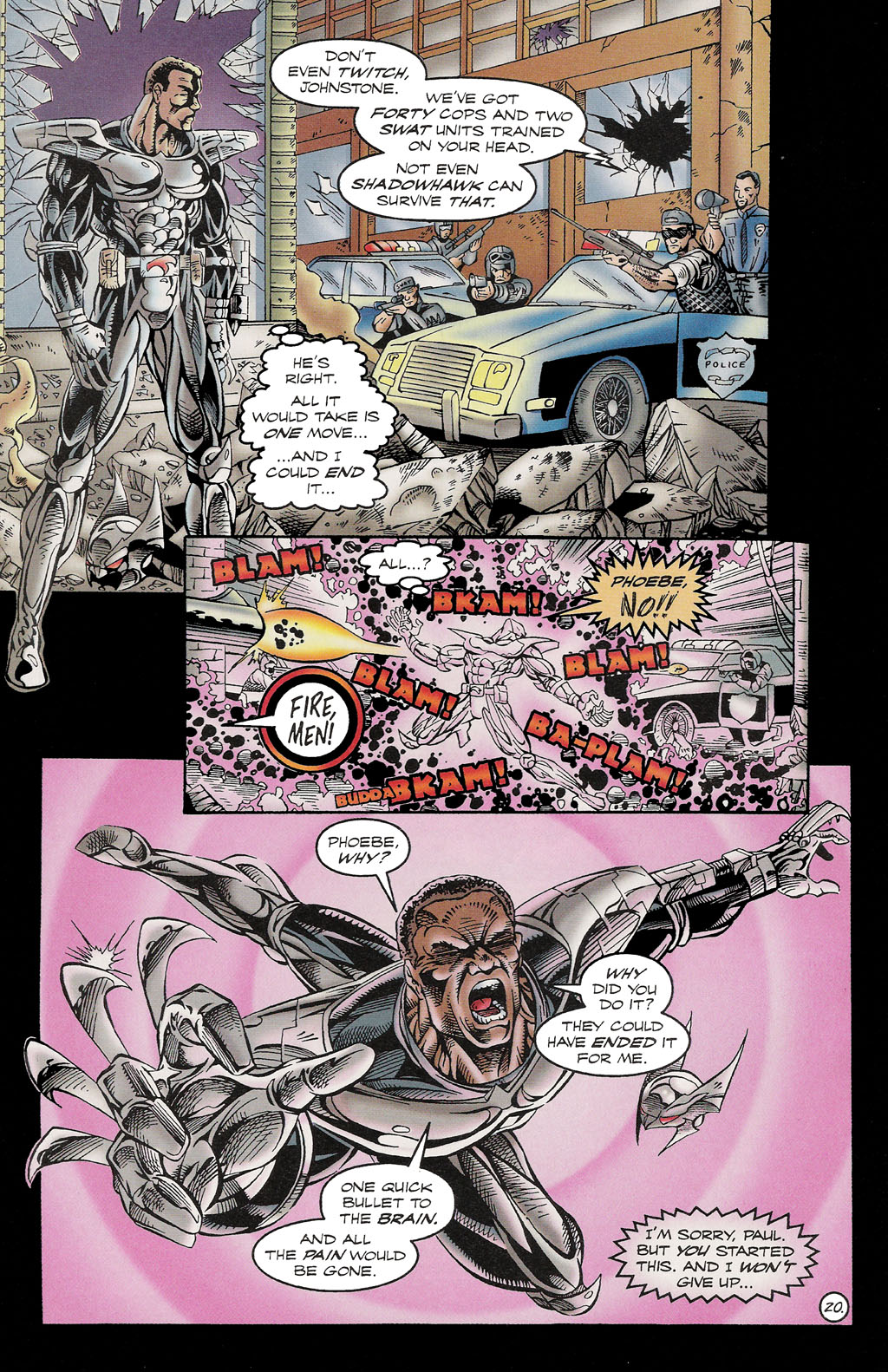 Read online ShadowHawk comic -  Issue #16 - 19