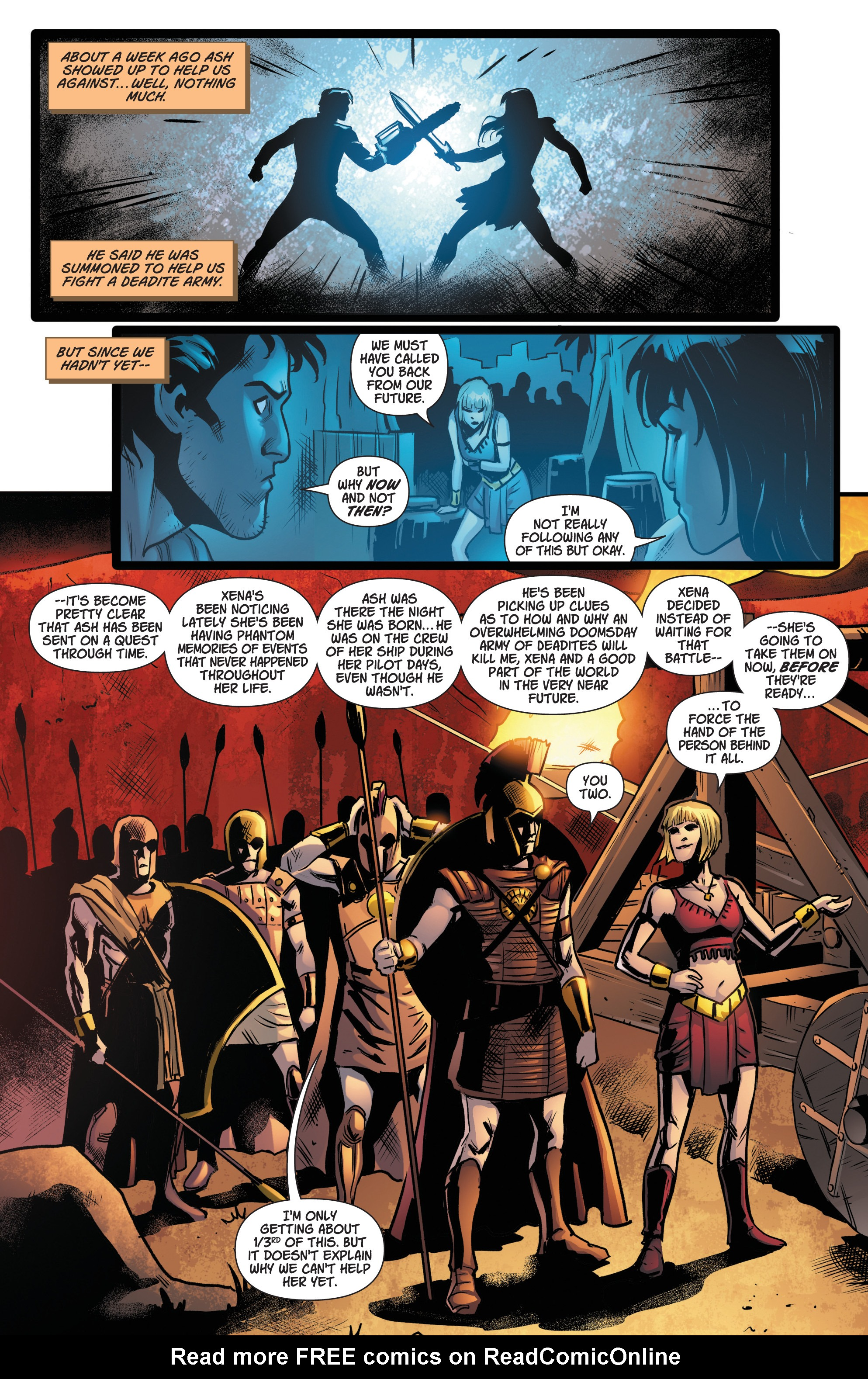 Read online Army Of Darkness/Xena: Forever…And A Day comic -  Issue #5 - 6