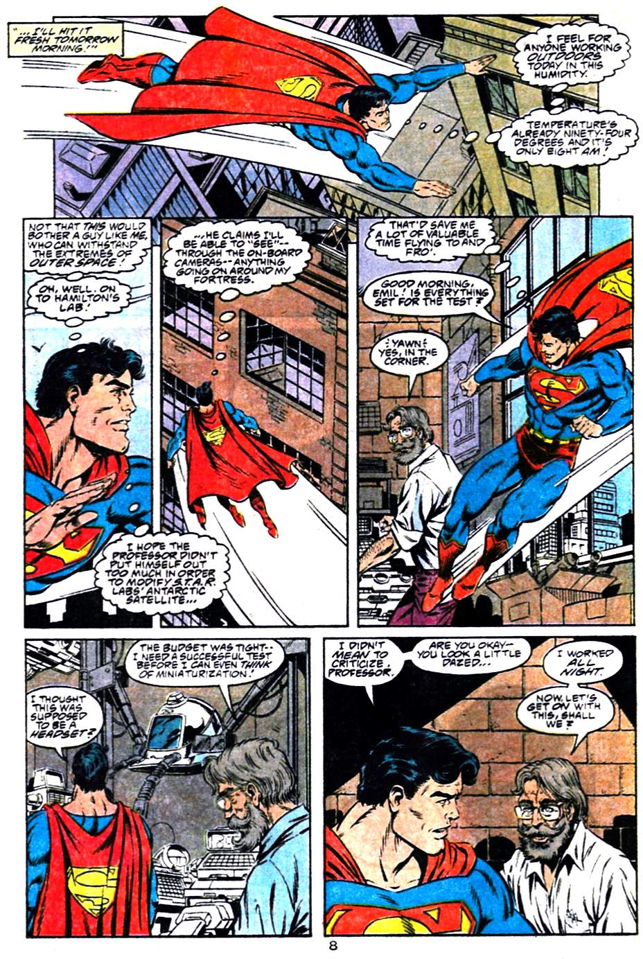 Read online Adventures of Superman (1987) comic -  Issue #484 - 9