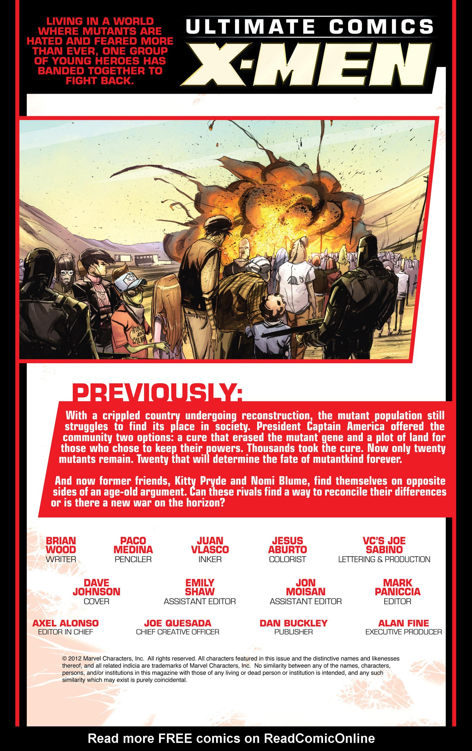 Read online Ultimate Comics X-Men comic -  Issue #19 - 2
