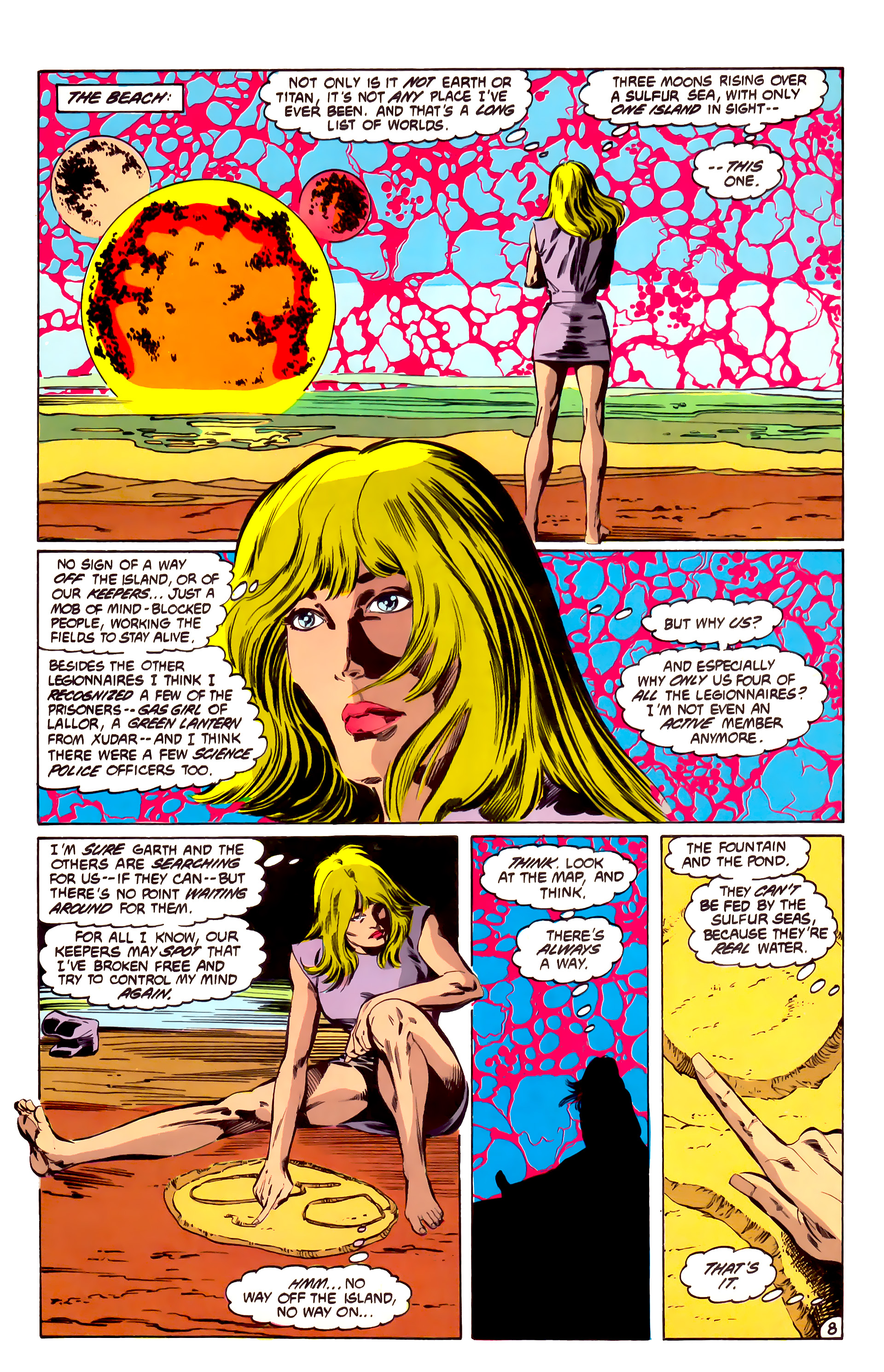 Legion of Super-Heroes (1984) 32 Page 7