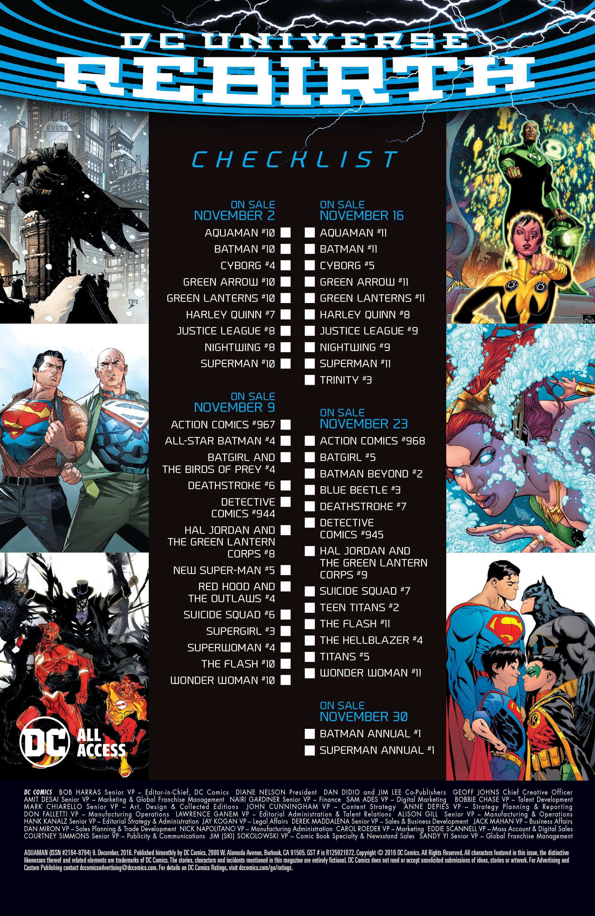 Read online Aquaman (2016) comic -  Issue #9 - 24