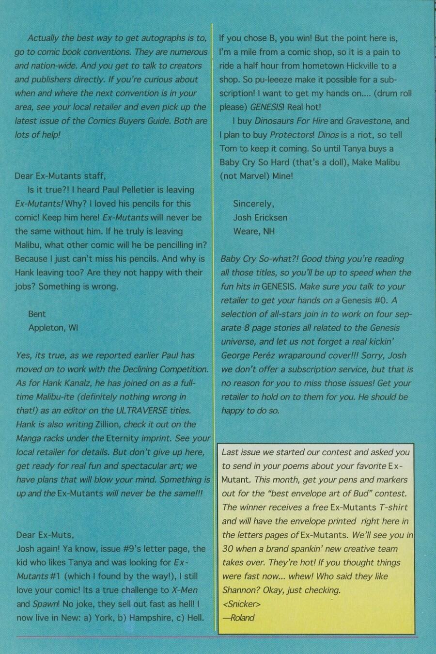 Read online Ex-Mutants comic -  Issue #12 - 31