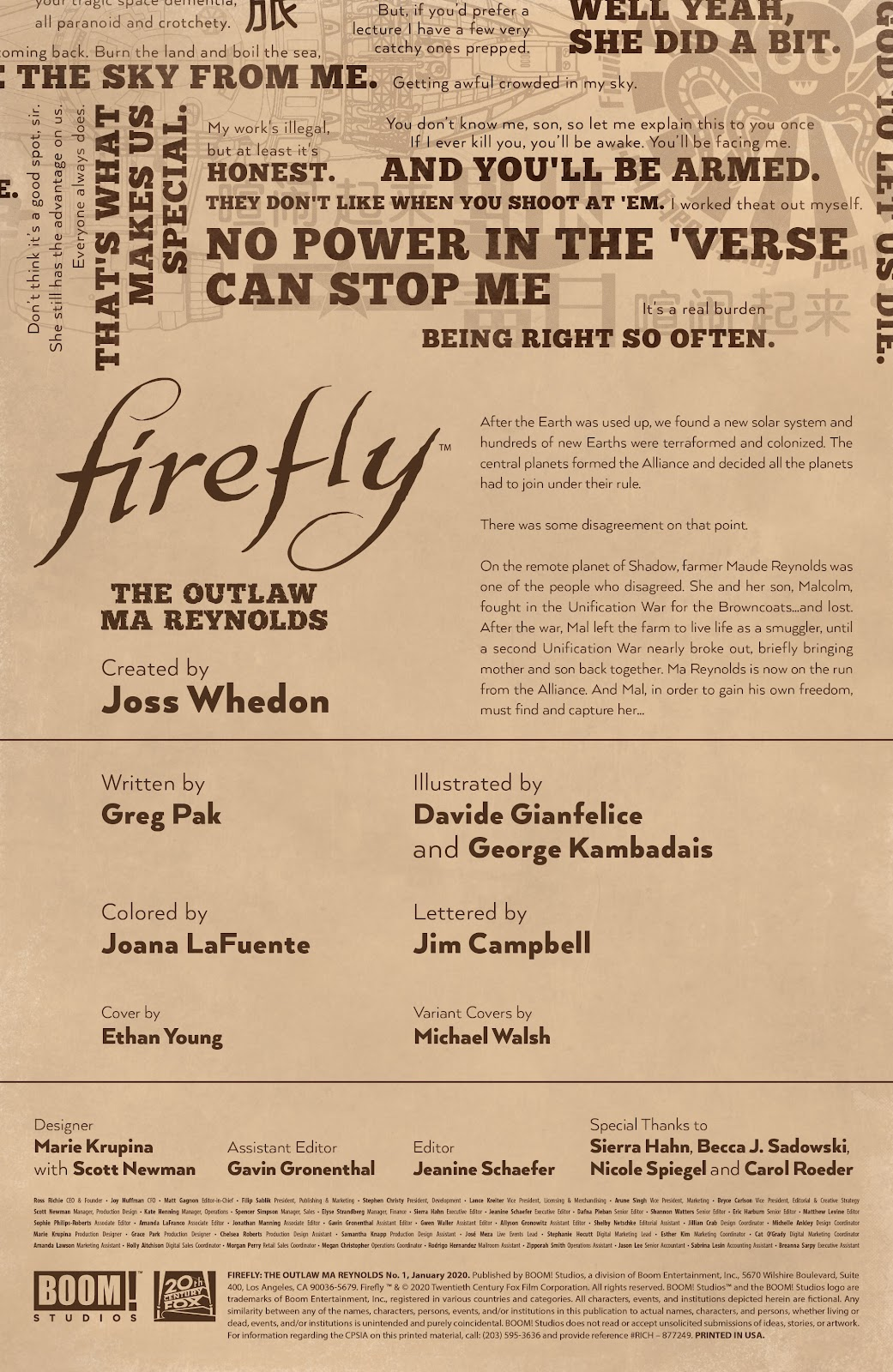 Read online Firefly: The Outlaw Ma Reynolds comic -  Issue # Full - 2