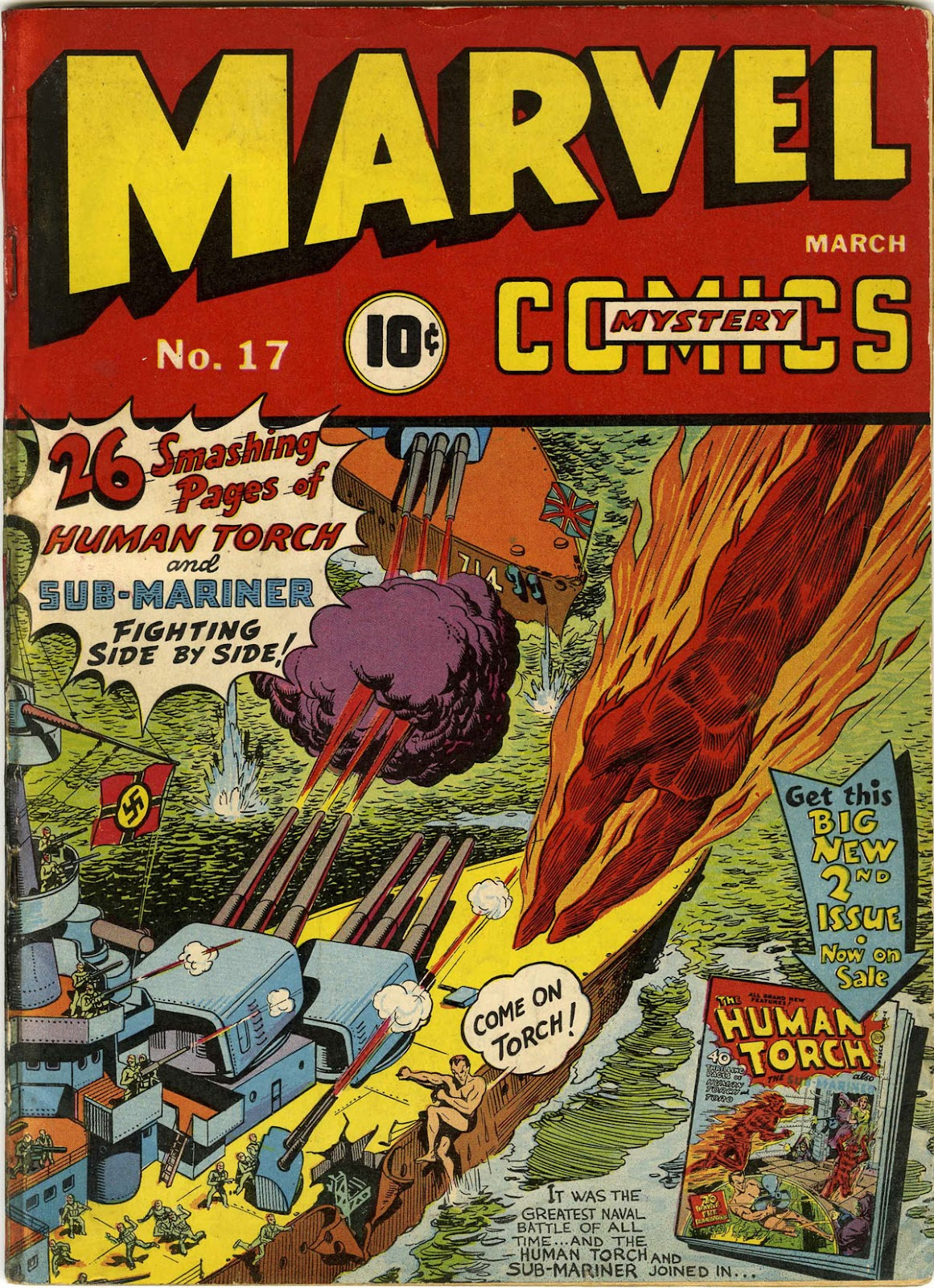 Marvel Mystery Comics (1939) issue 17 - Page 1
