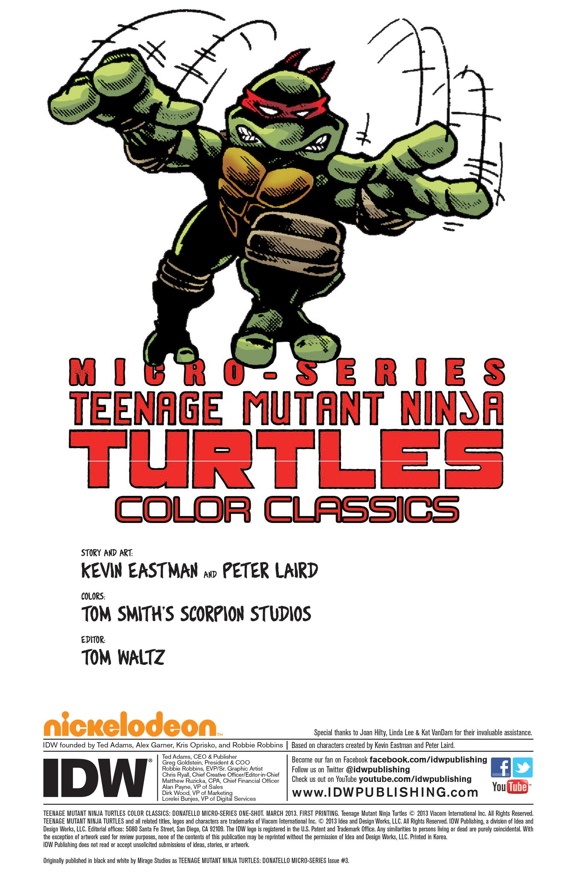 Teenage Mutant Ninja Turtles Color Classics: Donatello Micro-Series