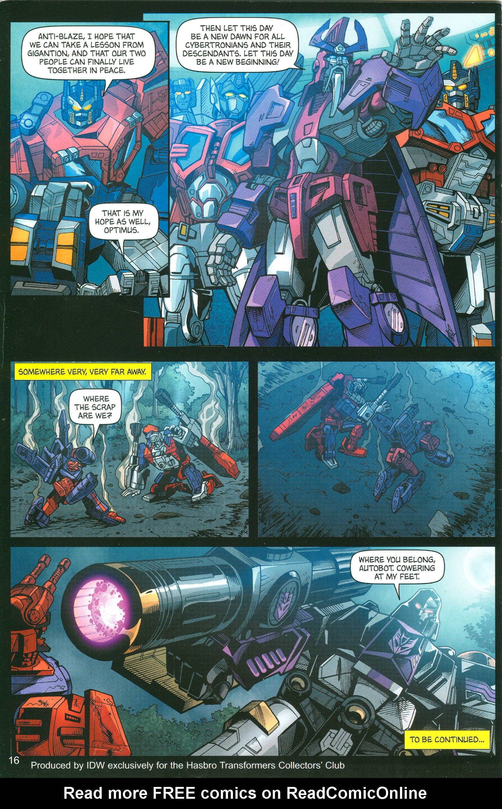 Read online Transformers: Collectors' Club comic -  Issue #12 - 16