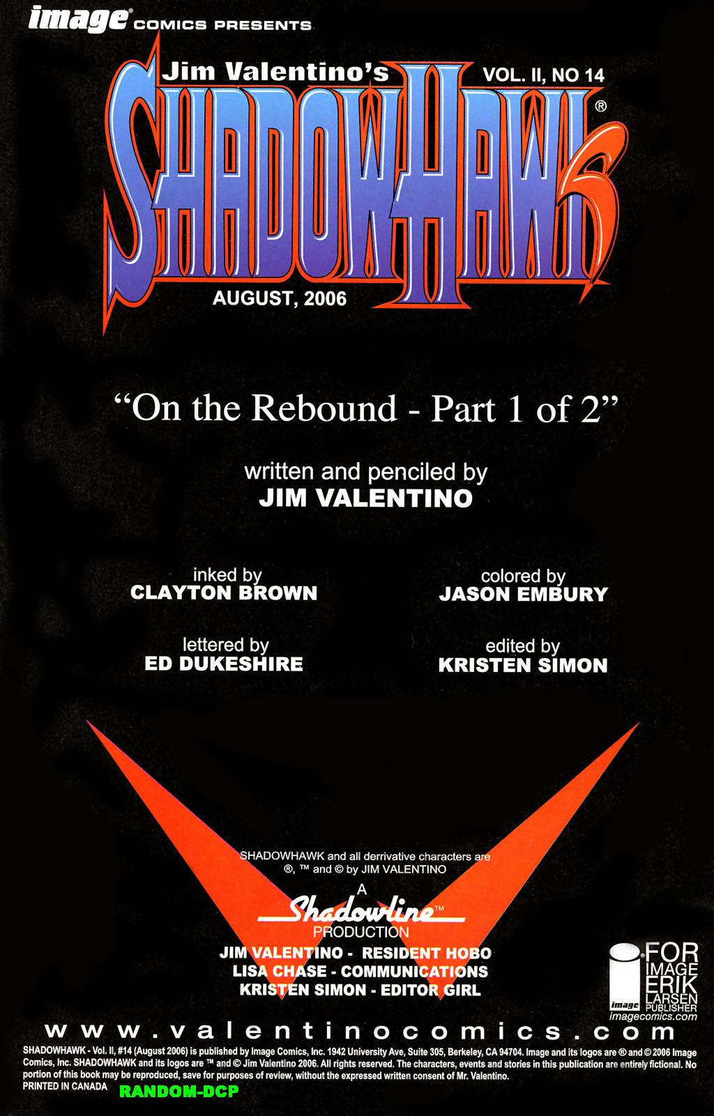 Read online ShadowHawk (2005) comic -  Issue #14 - 2