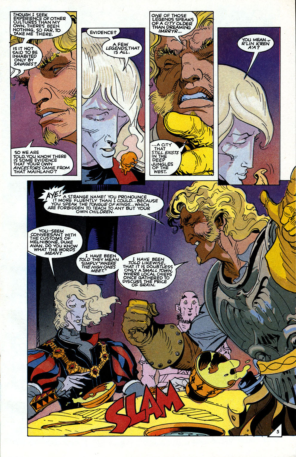 Read online Elric: Sailor on the Seas of Fate comic -  Issue #6 - 7