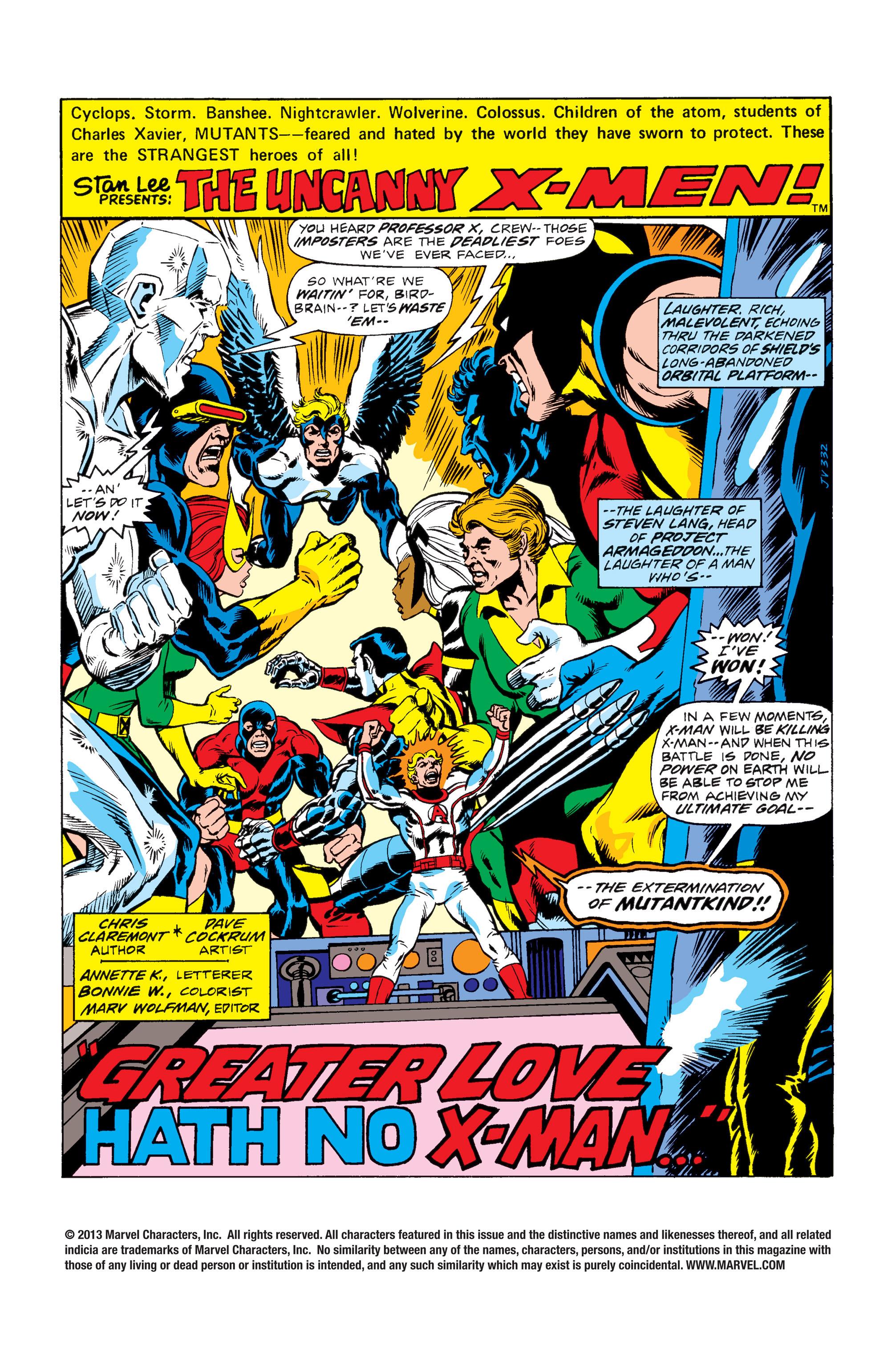 Uncanny X-Men (1963) 100 Page 1
