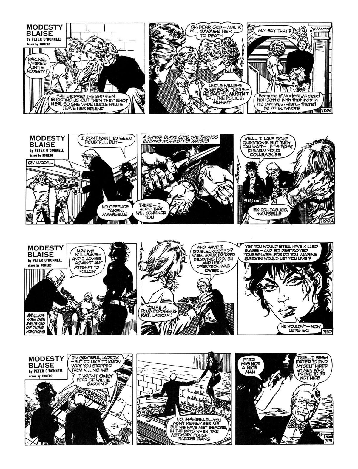 Read online Modesty Blaise Live bait comic -  Issue # TPB - 30