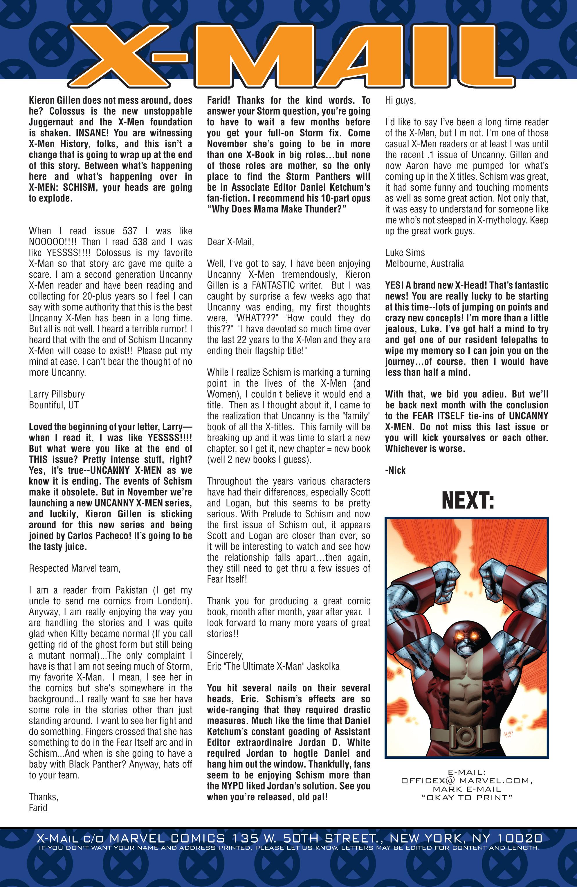Read online Uncanny X-Men (1963) comic -  Issue #542 - 23