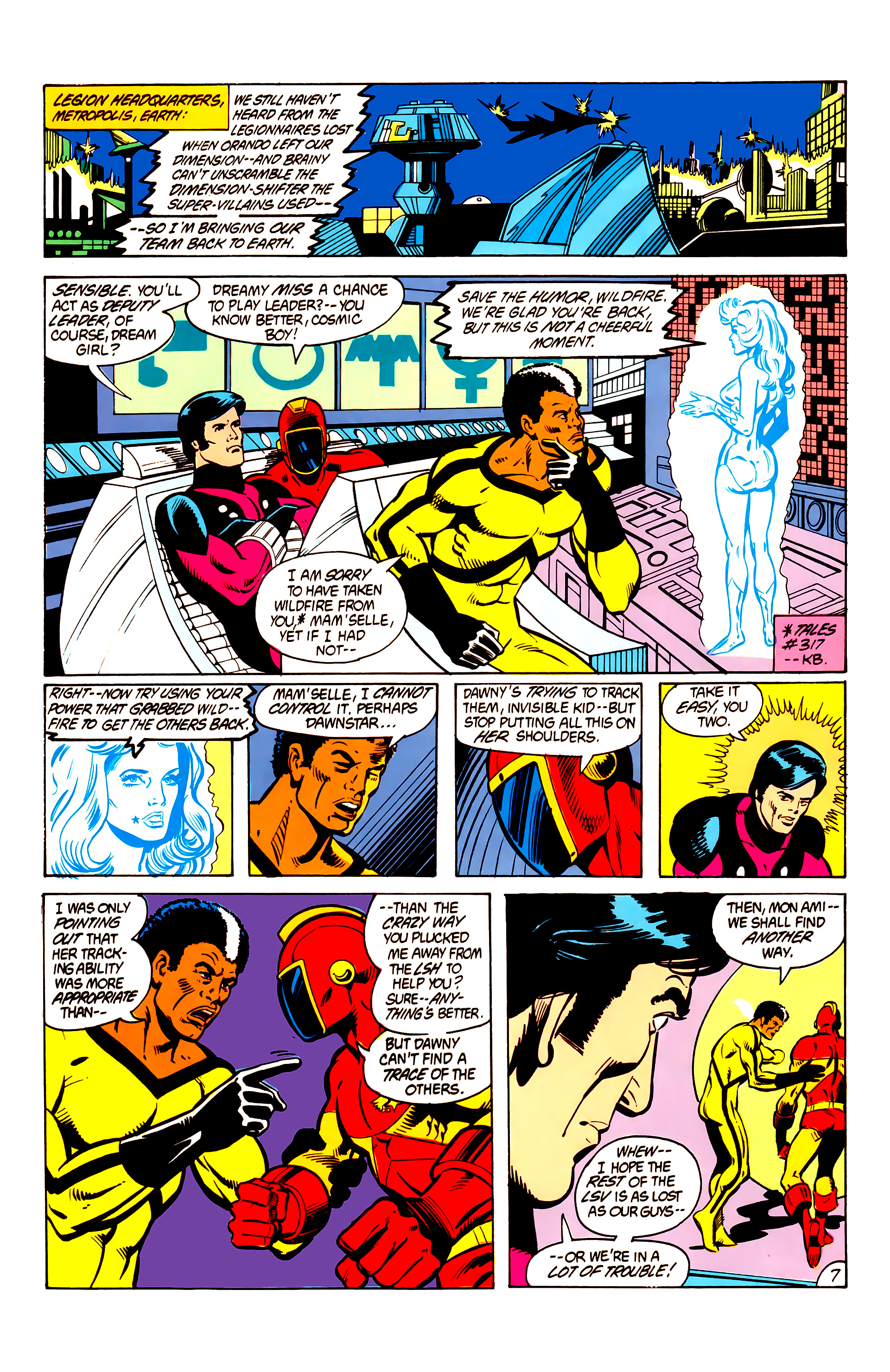 Legion of Super-Heroes (1984) 6 Page 7