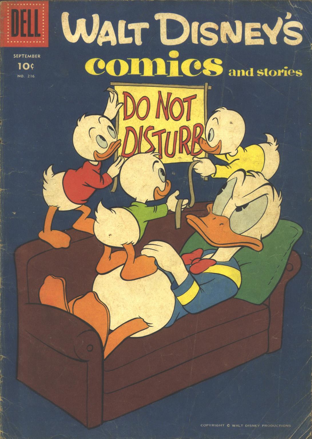 Walt Disneys Comics and Stories 216 Page 1