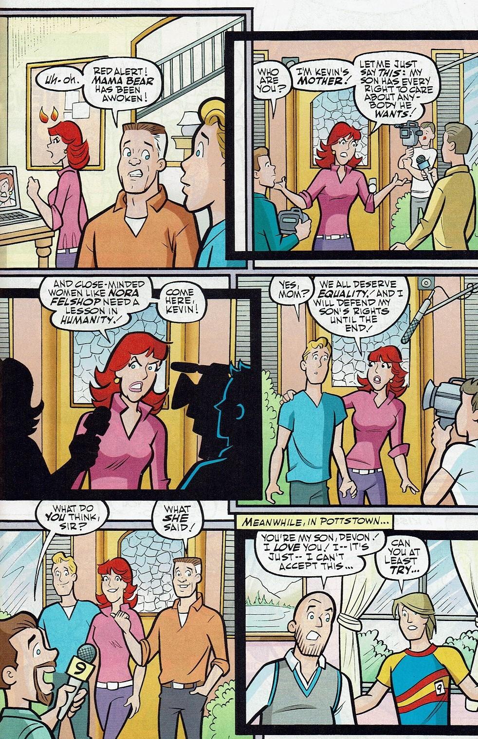 Read online Kevin Keller comic -  Issue #10 - 16