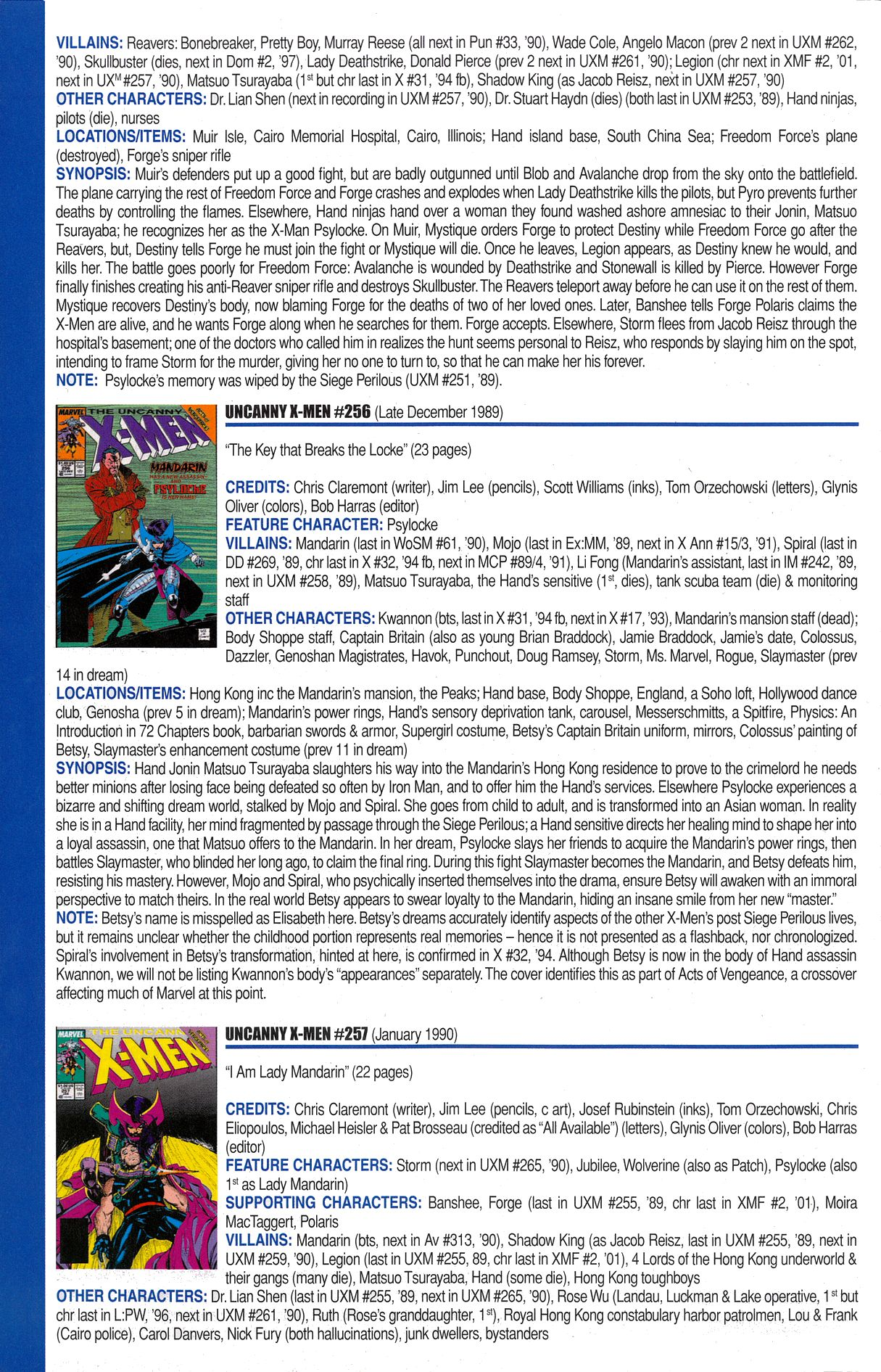 Read online Official Index to the Marvel Universe comic -  Issue #6 - 60