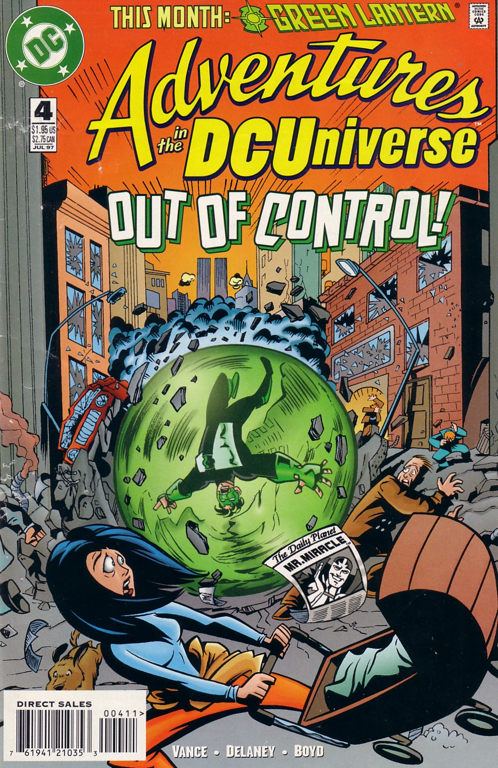 Read online Adventures in the DC Universe comic -  Issue #4 - 1