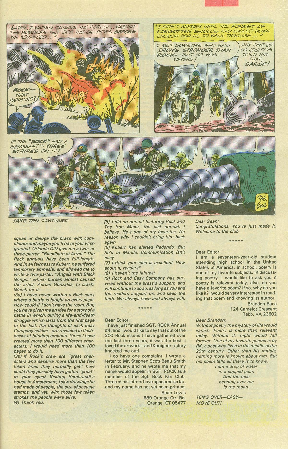 Read online Sgt. Rock comic -  Issue #404 - 33