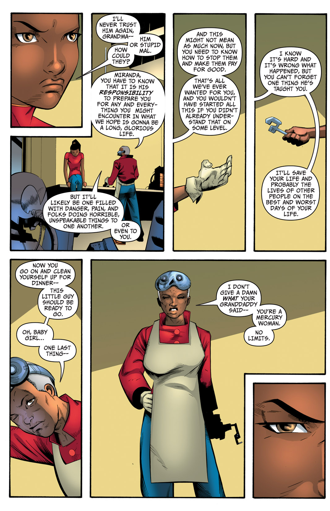 Read online The Many Adventures of Miranda Mercury: Time Runs Out comic -  Issue # TPB - 165