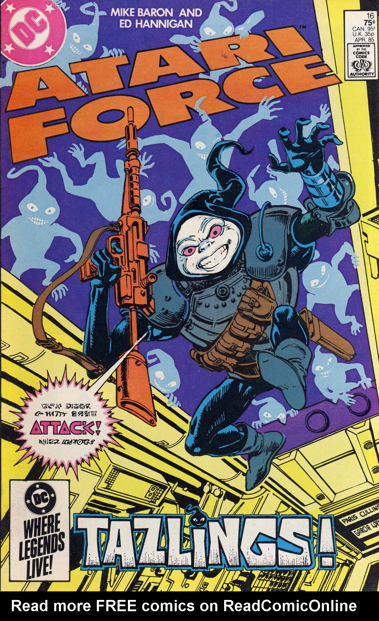 Read online Atari Force (1984) comic -  Issue #16 - 1