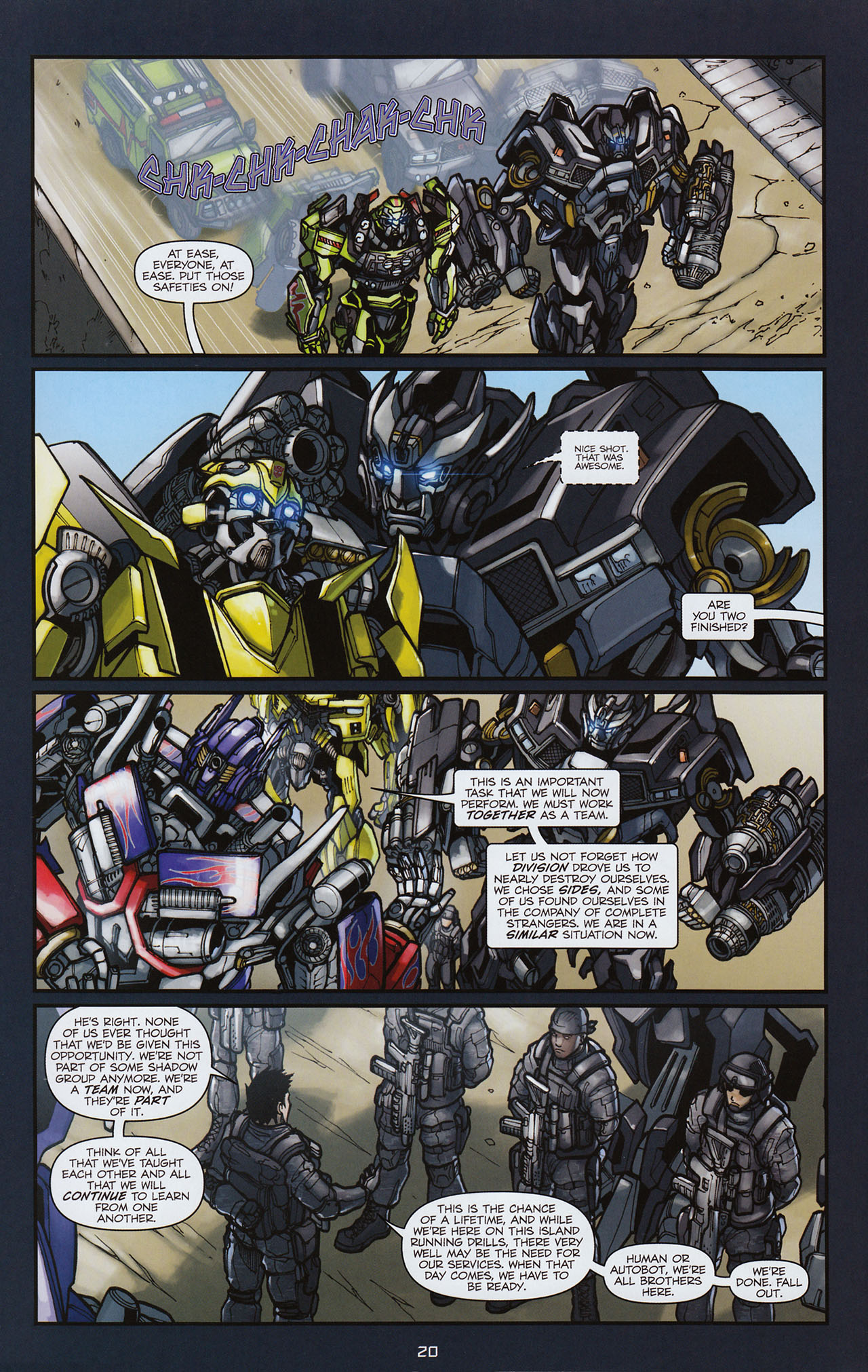 Read online Transformers: Alliance comic -  Issue #3 - 21