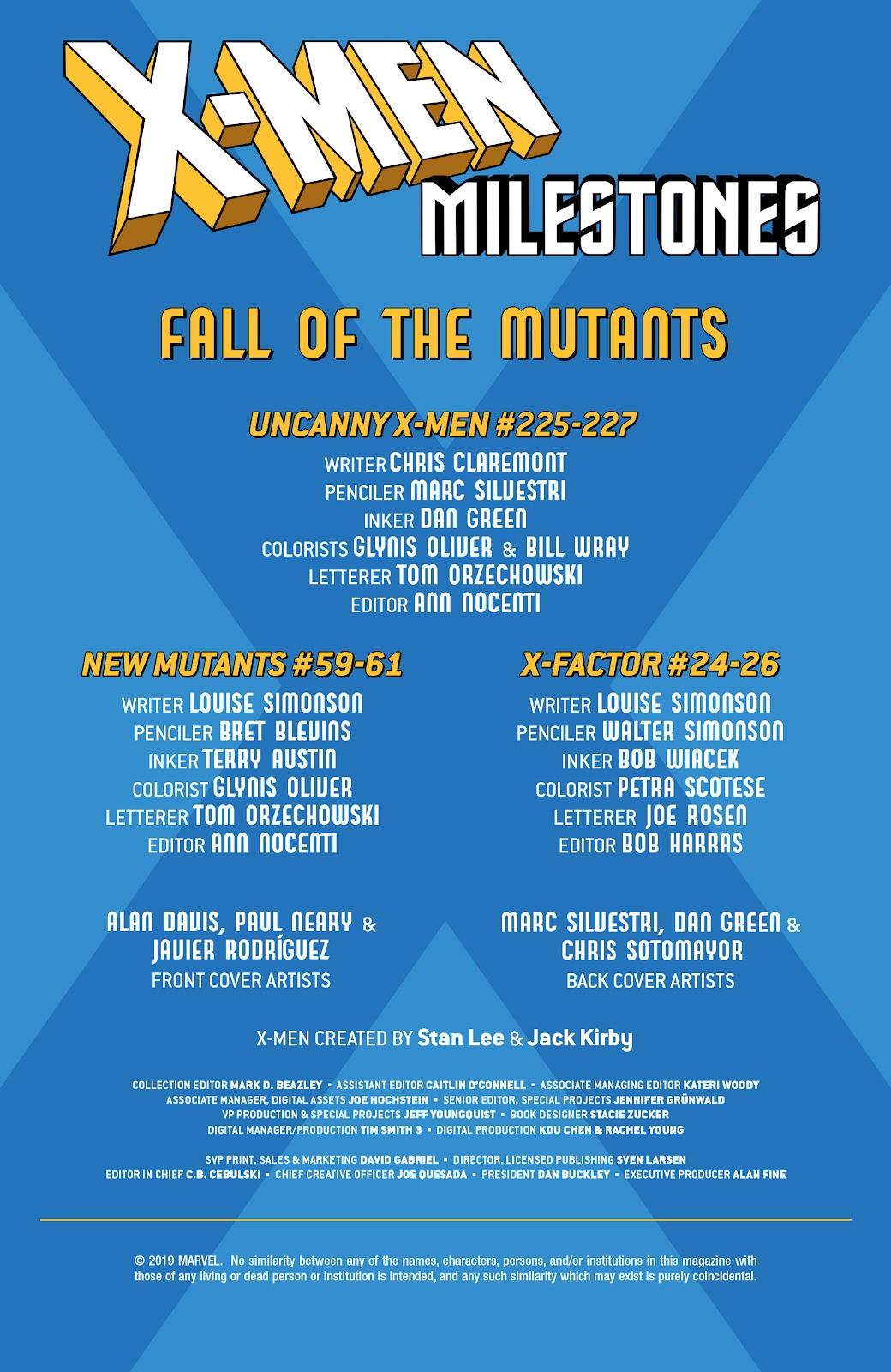 Read online X-Men Milestones: Fall of the Mutants comic -  Issue # TPB (Part 1) - 2