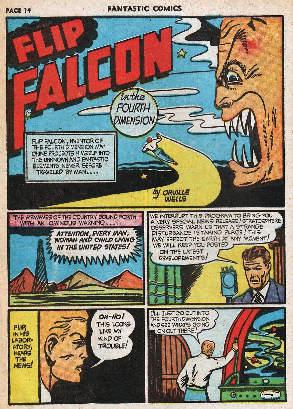 Read online Fantastic Comics comic -  Issue #20 - 15