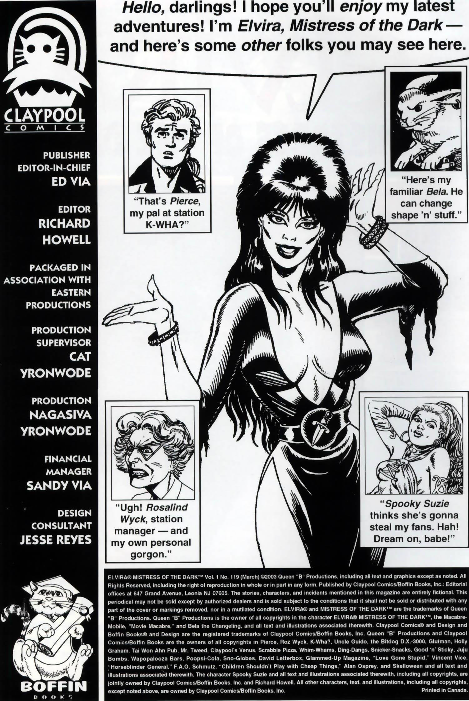 Read online Elvira, Mistress of the Dark comic -  Issue #119 - 2
