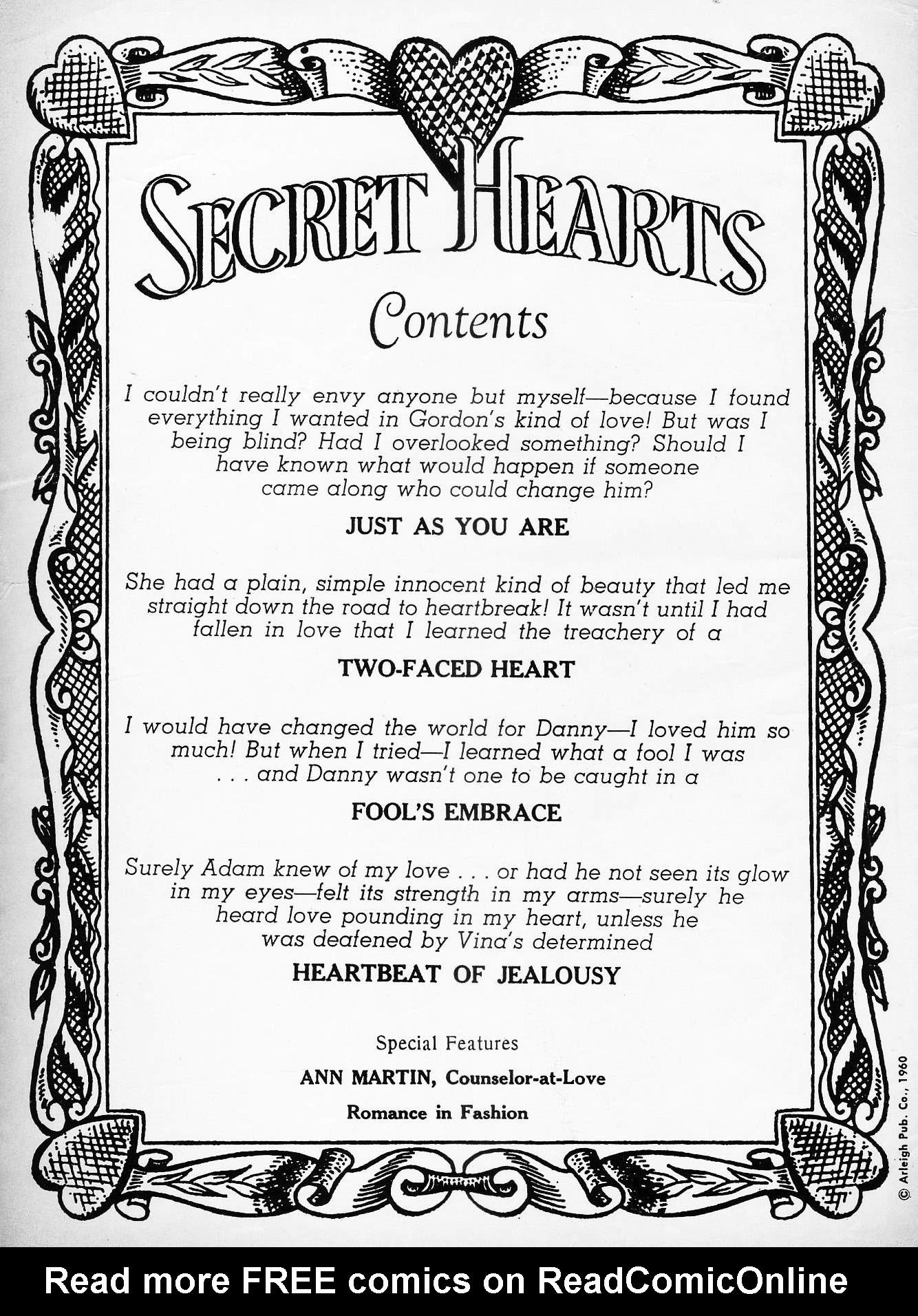 Read online Secret Hearts comic -  Issue #63 - 2