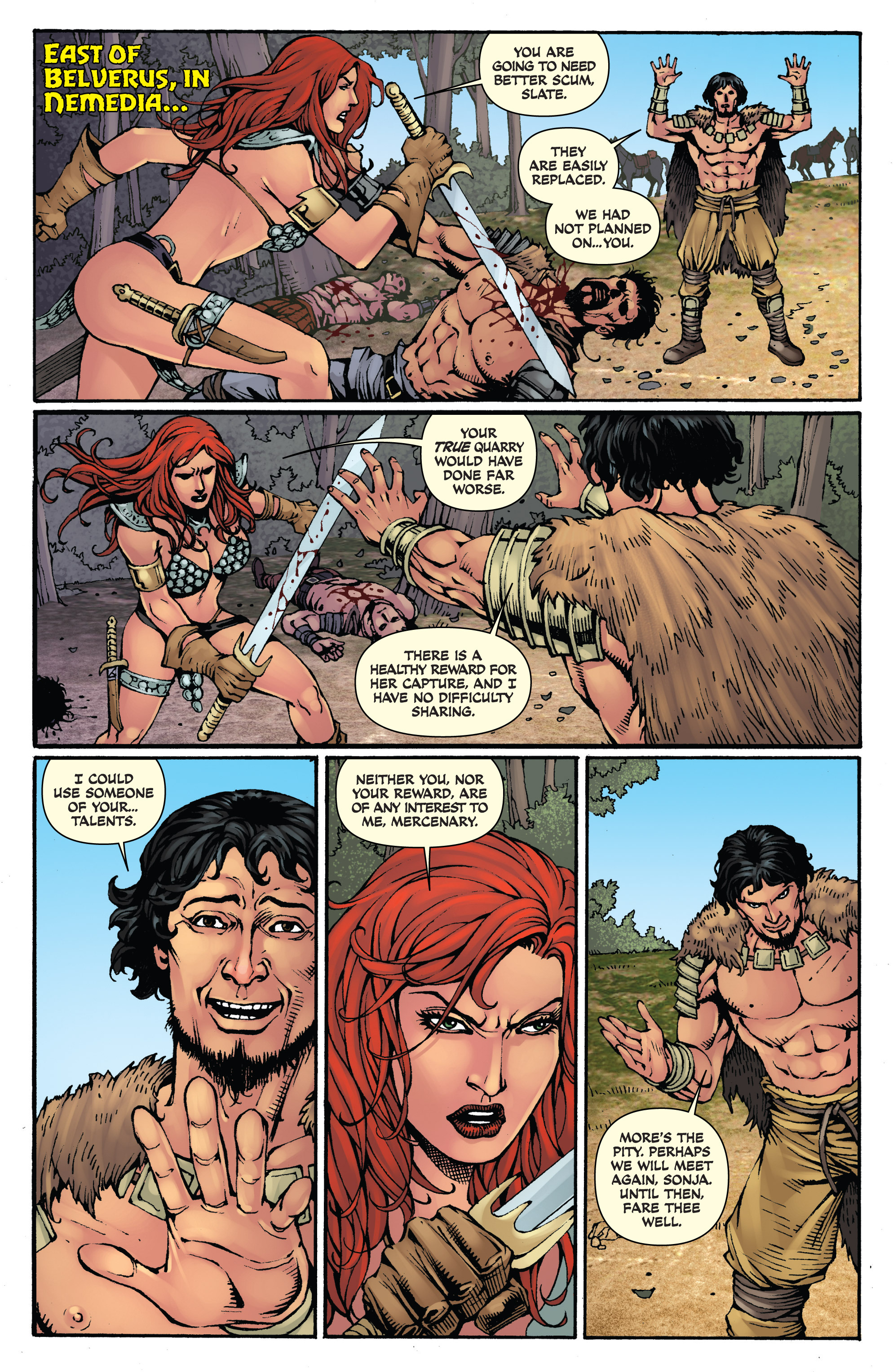 Read online Red Sonja: Sanctuary comic -  Issue # Full - 3