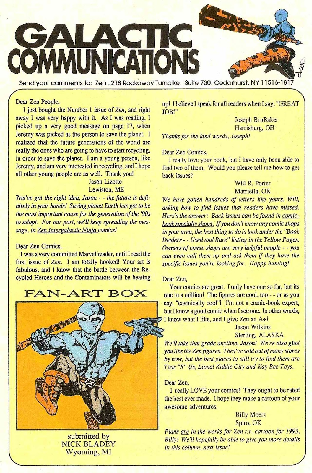 Read online Zen Intergalactic Ninja (1992) comic -  Issue #3 - 31
