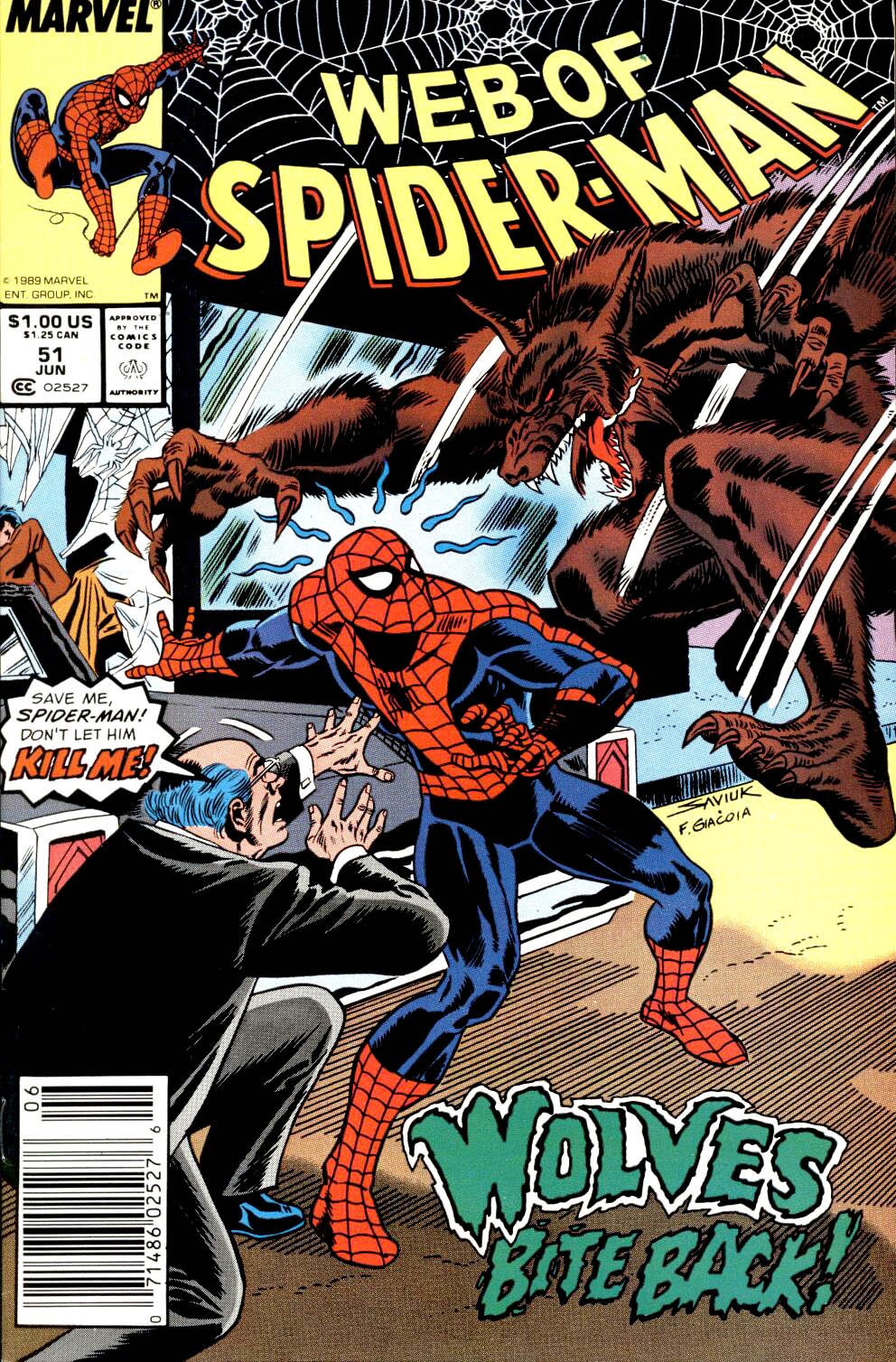 Web of Spider-Man (1985) 51 Page 1