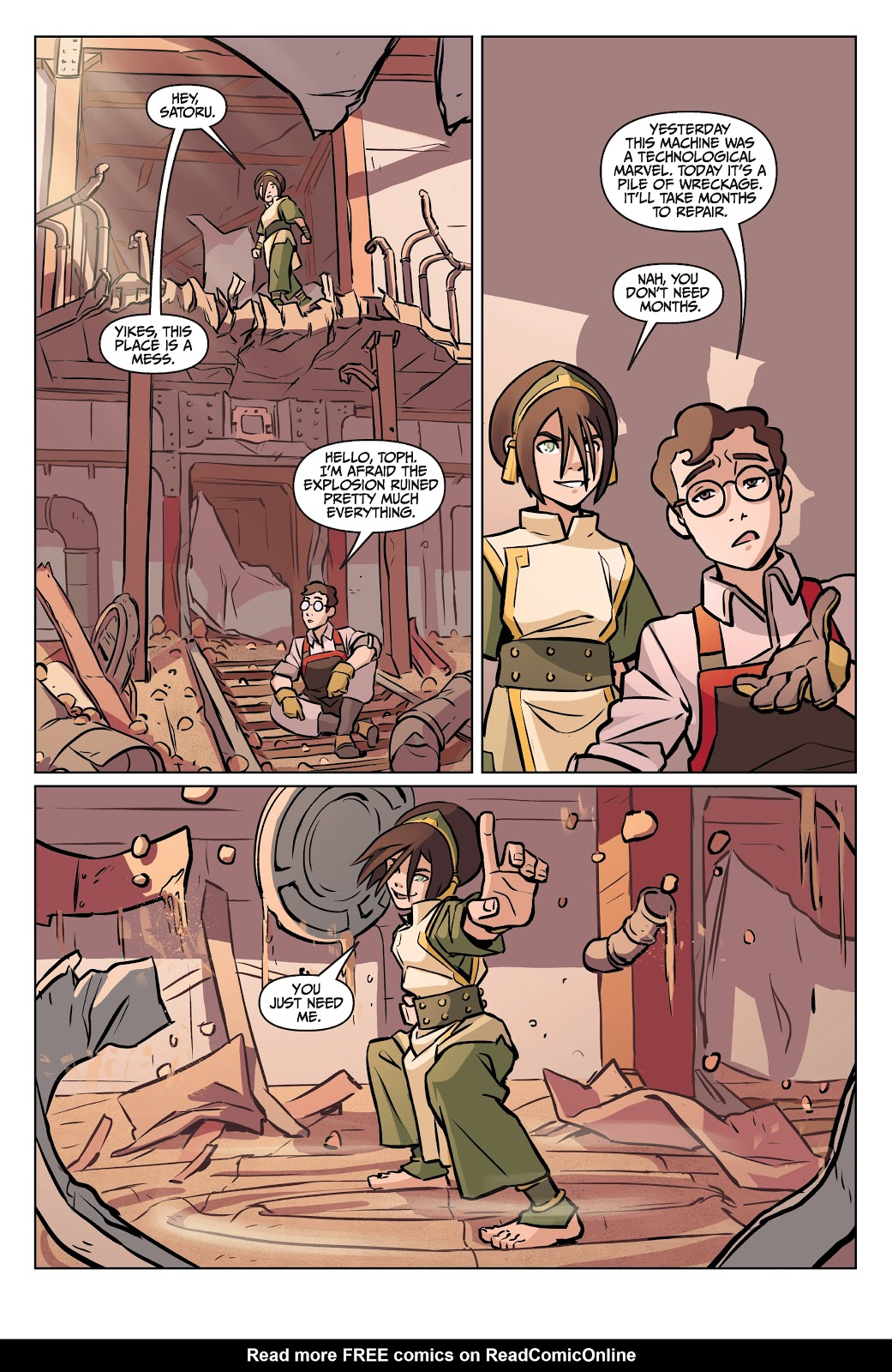 Read online Nickelodeon Avatar: The Last Airbender - Imbalance comic -  Issue # TPB 2 - 31