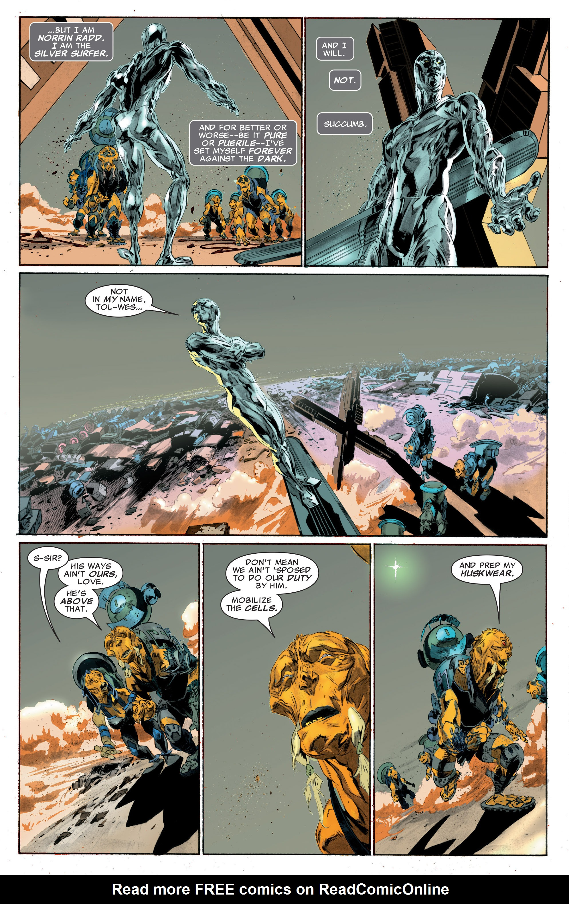 Read online Silver Surfer: In Thy Name comic -  Issue #3 - 8